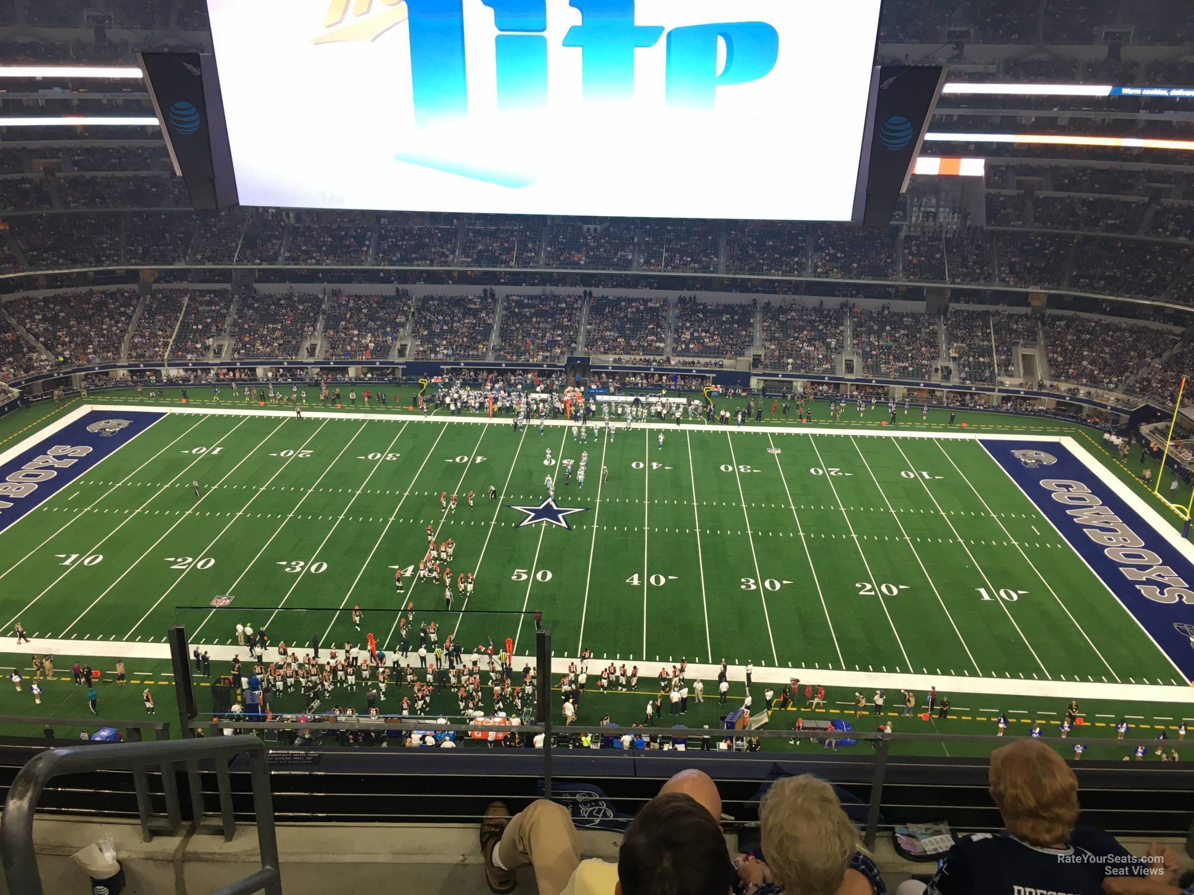 Dallas Cowboys Seat View for AT&T Stadium Section 441, Row 4