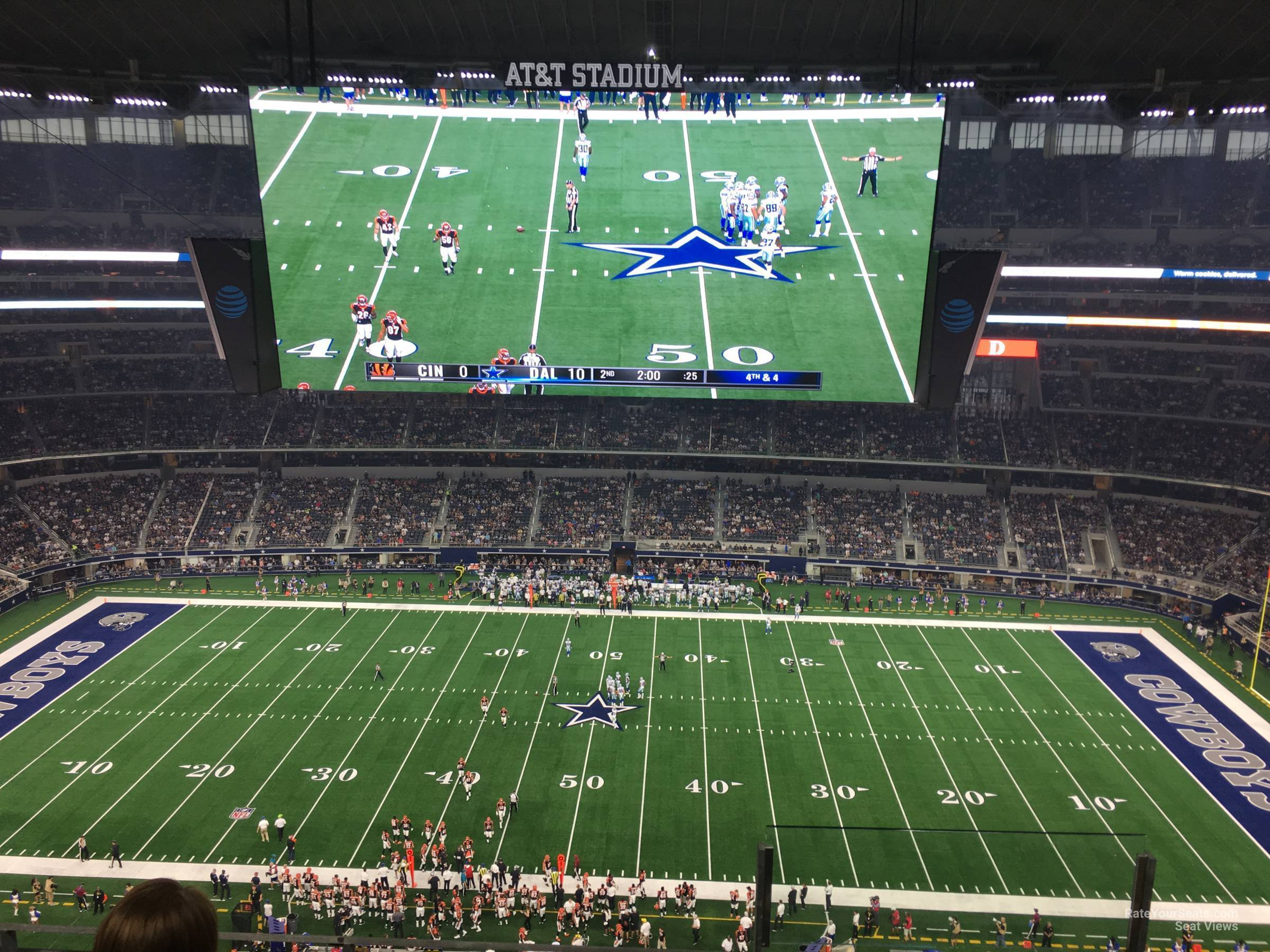 Dallas Cowboys Seat View for AT&T Stadium Section 442, Row 4