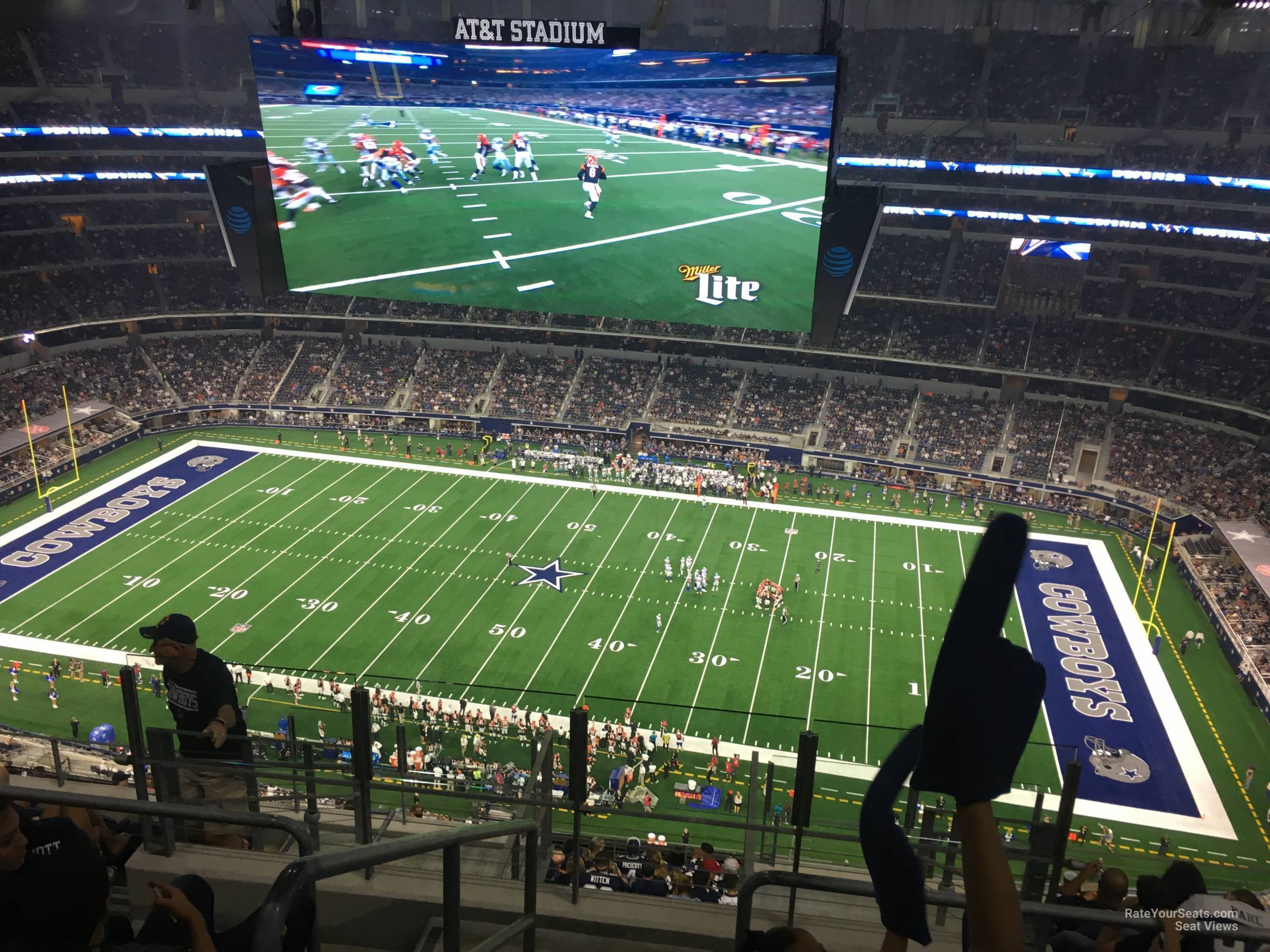 At Amp T Stadium Section 447 Dallas Cowboys Rateyourseats Com