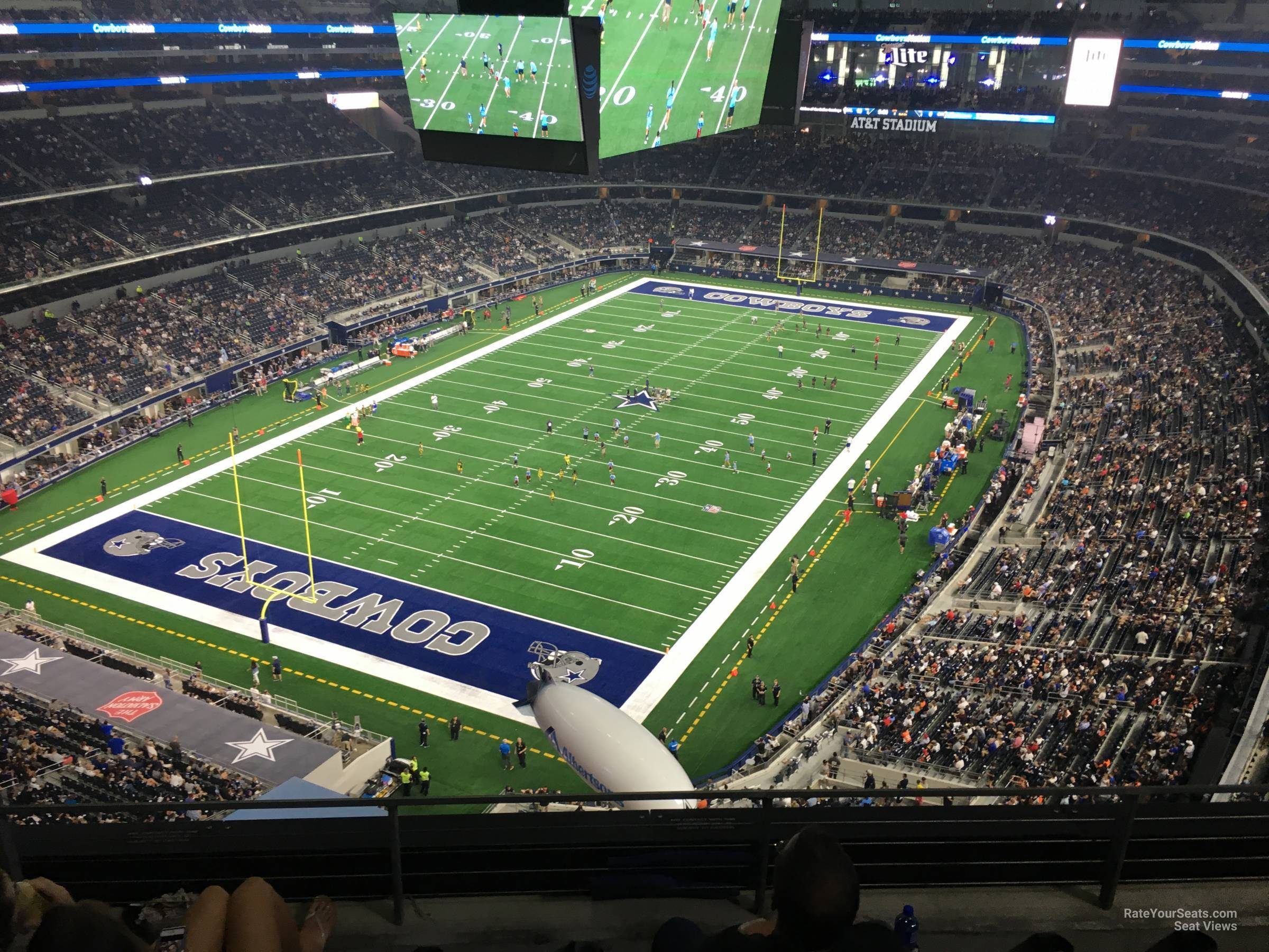 Dallas Cowboys Seat View for AT&T Stadium Section 452, Row 4