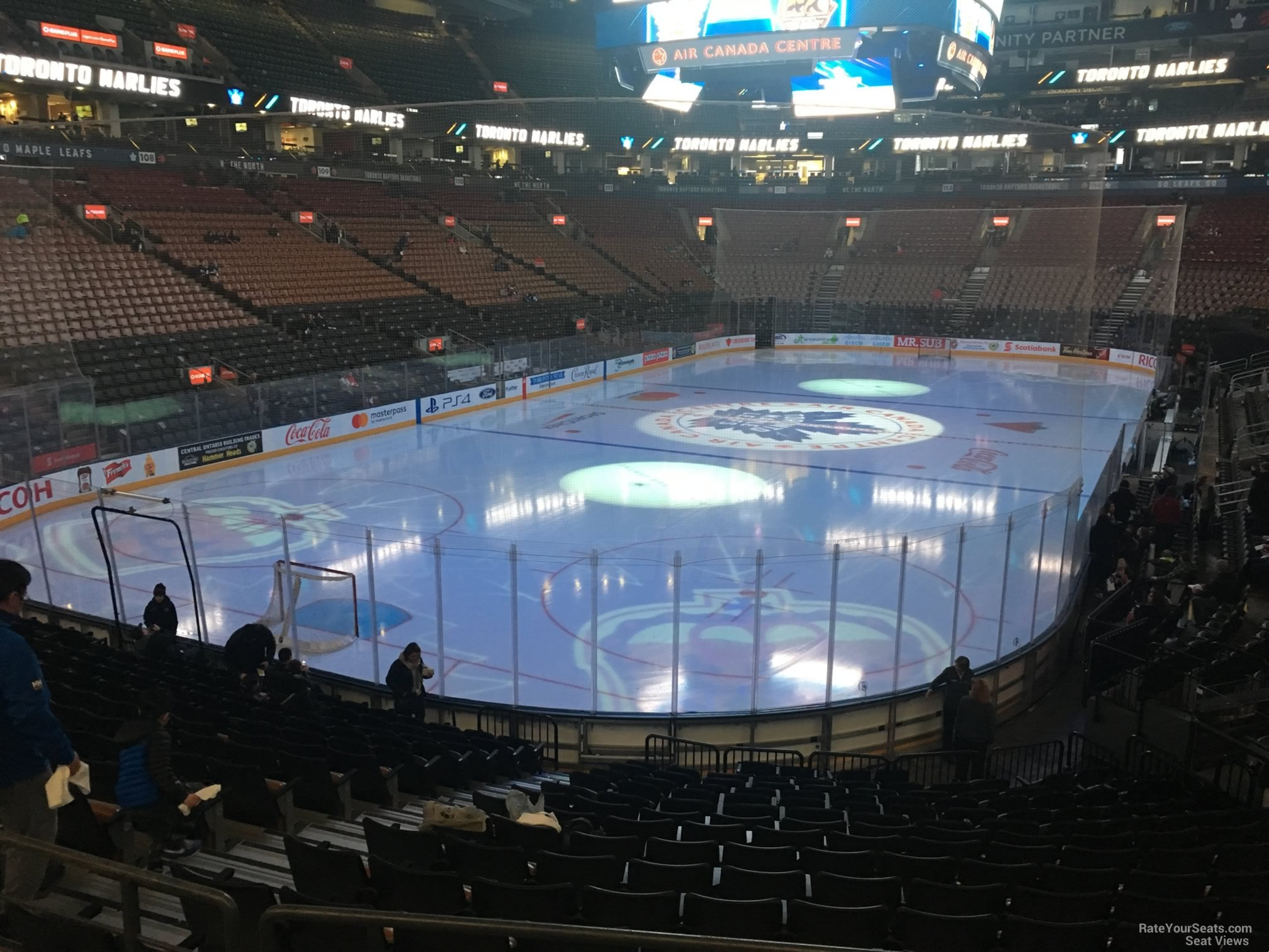 Toronto Maple Leafs Seat View for Scotiabank Arena Section 101, Row 20