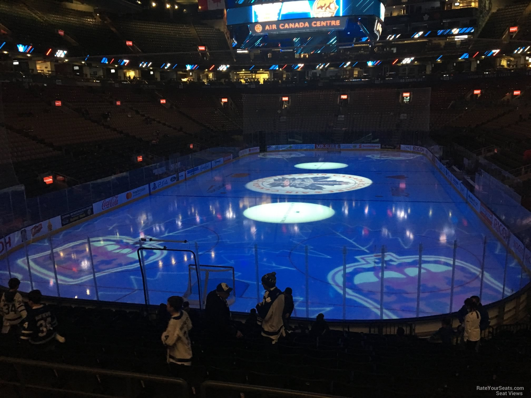 Toronto Maple Leafs Seat View for Scotiabank Arena Section 102, Row 20