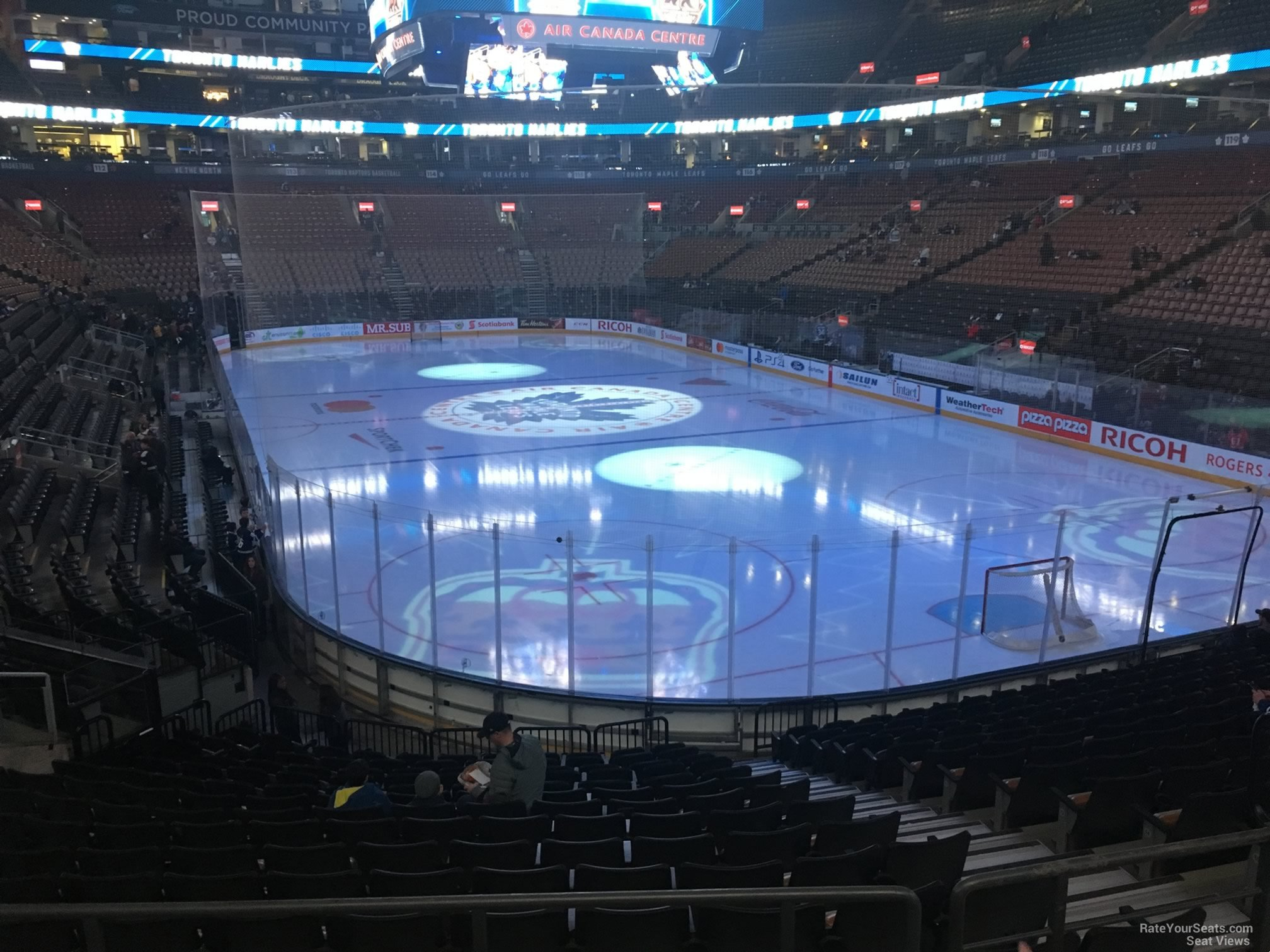 Toronto Maple Leafs Seat View for Scotiabank Arena Section 104, Row 20