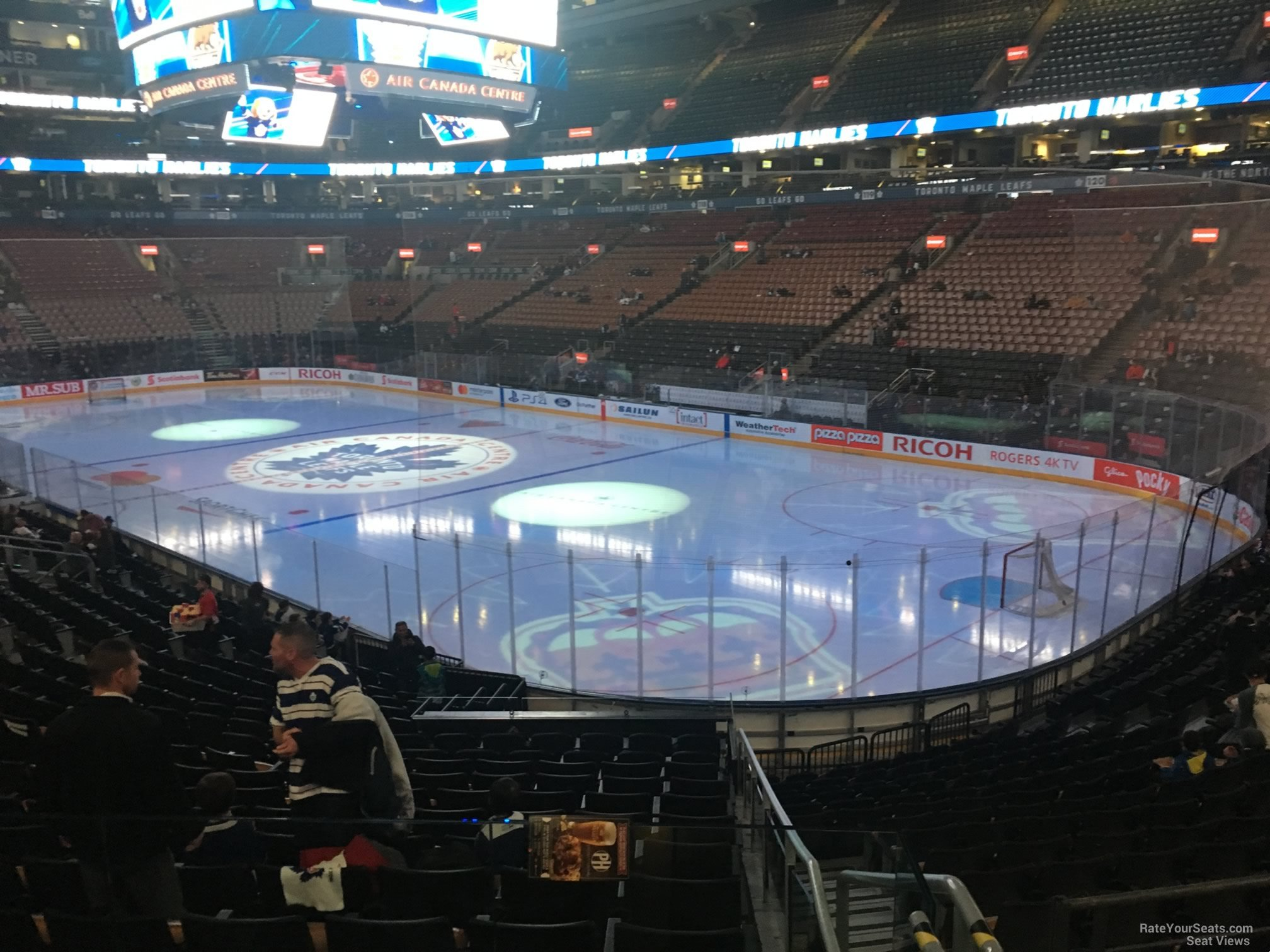 Toronto Maple Leafs Seat View for Scotiabank Arena Section 105, Row 20