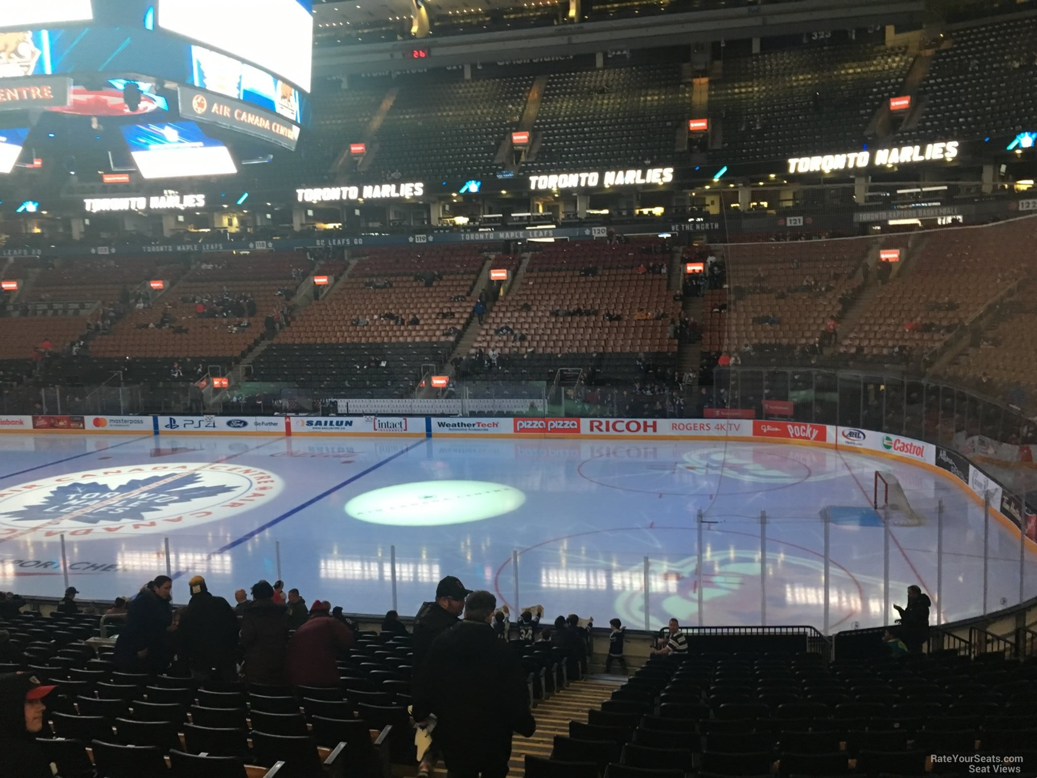 Toronto Maple Leafs Seat View for Scotiabank Arena Section 106, Row 20