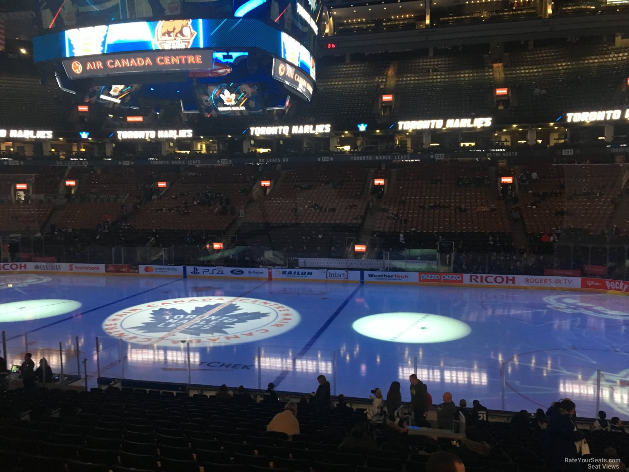 Toronto Maple Leafs Seat View for Scotiabank Arena Section 107, Row 20