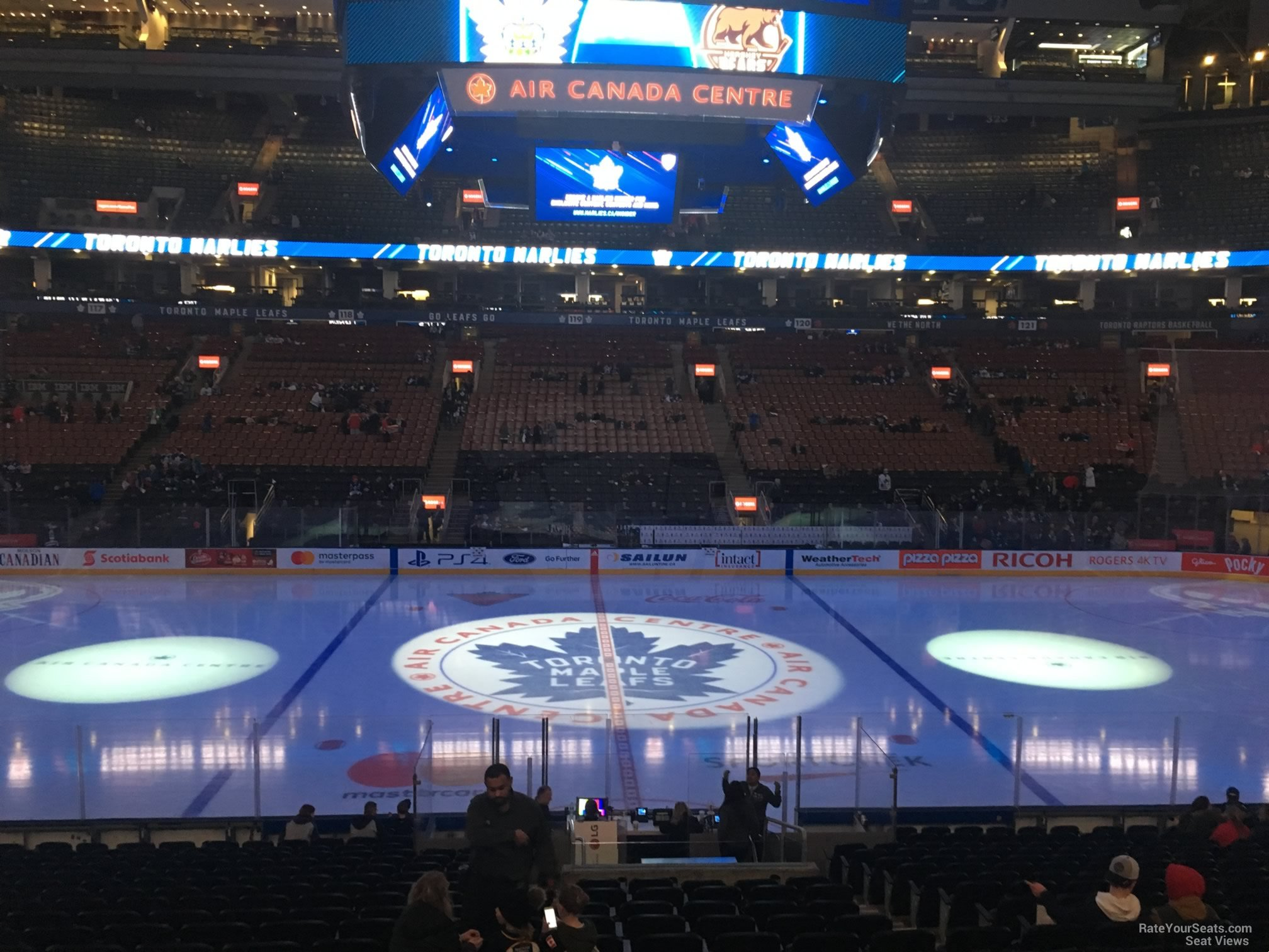 Toronto Maple Leafs Seat View for Scotiabank Arena Section 108, Row 20