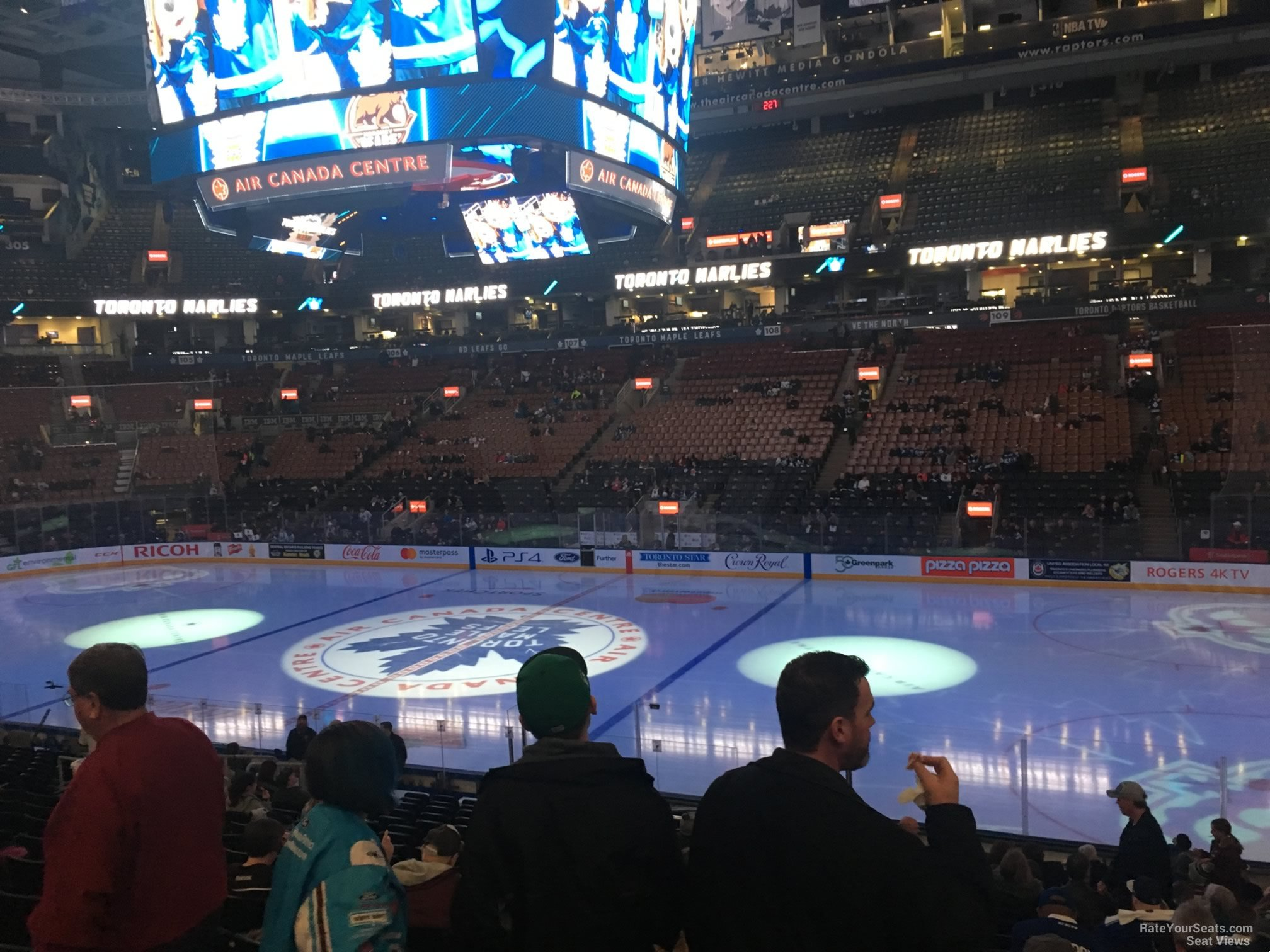 Toronto Maple Leafs Seat View for Scotiabank Arena Section 118, Row 20