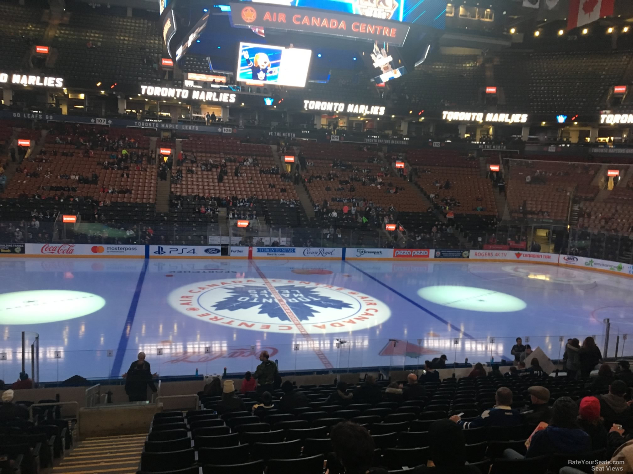 Toronto Maple Leafs Seat View for Scotiabank Arena Section 119, Row 20