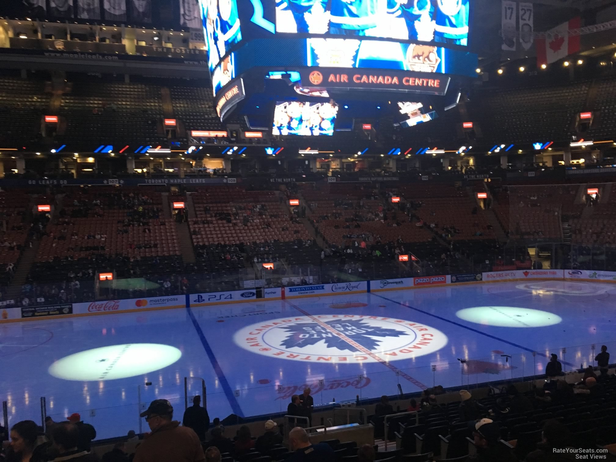 Toronto Maple Leafs Seat View for Scotiabank Arena Section 120, Row 20