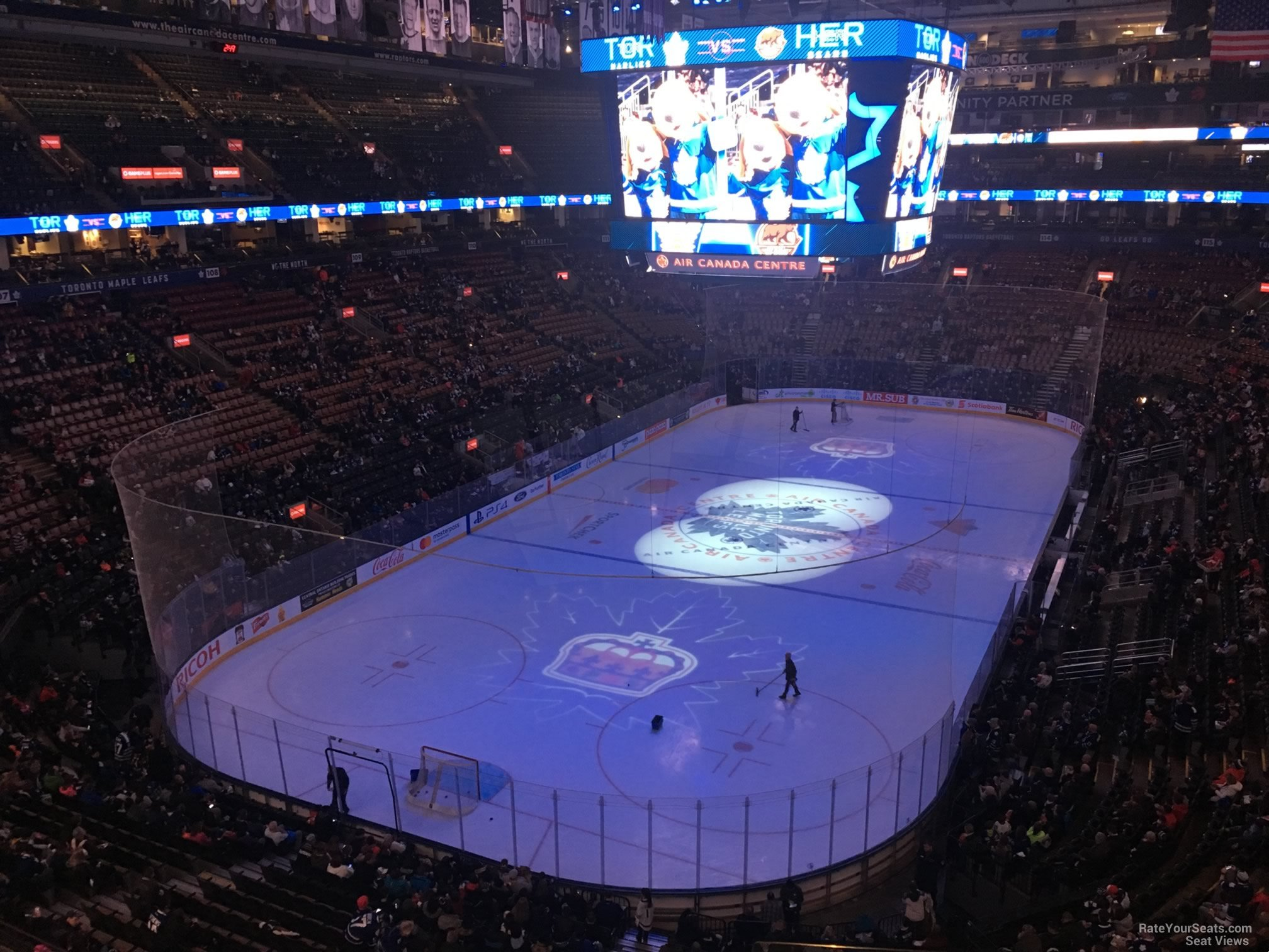 Toronto Maple Leafs Seat View for Scotiabank Arena Section 302, Row 3