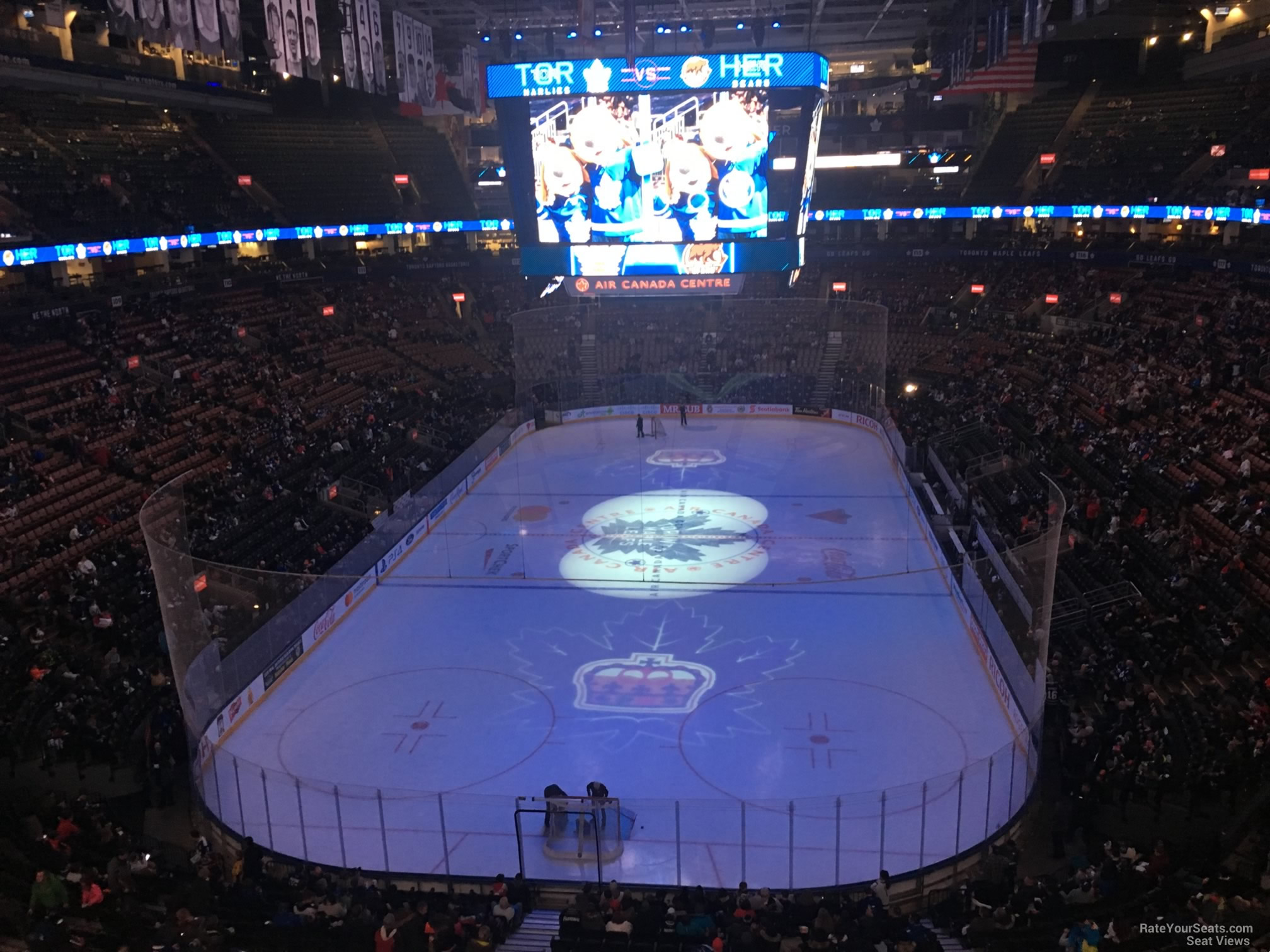 Toronto Maple Leafs Seat View for Scotiabank Arena Section 303, Row 3