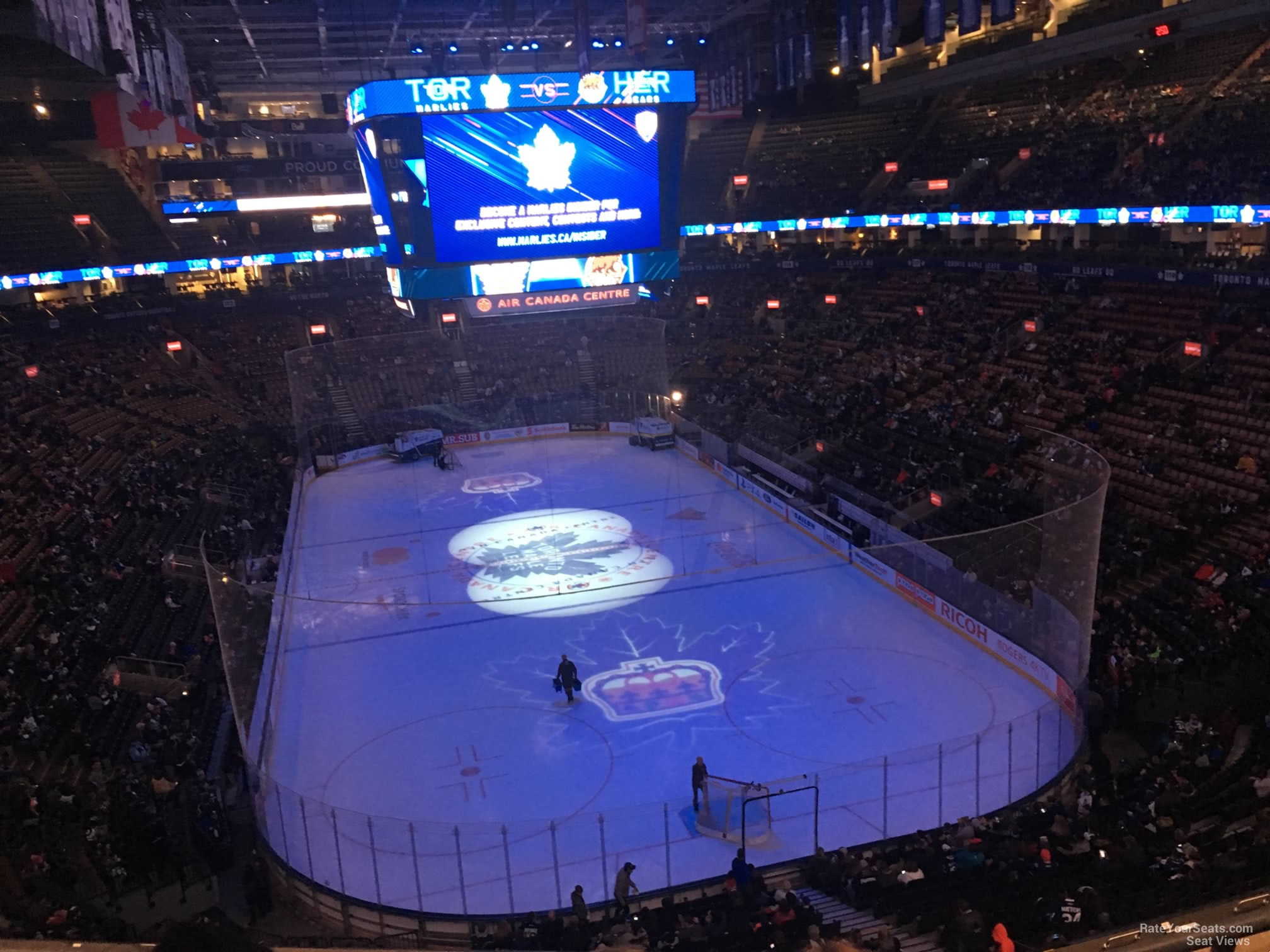 Toronto Maple Leafs Seat View for Scotiabank Arena Section 304, Row 3