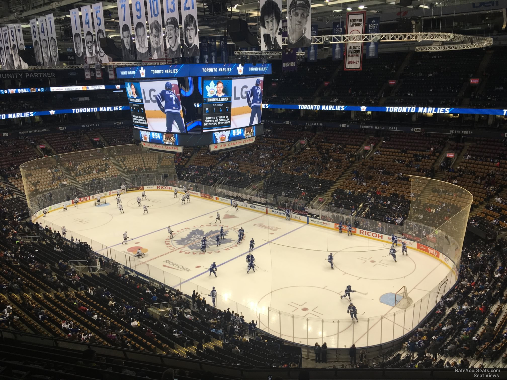 Toronto Maple Leafs Seat View for Scotiabank Arena Section 306, Row 10