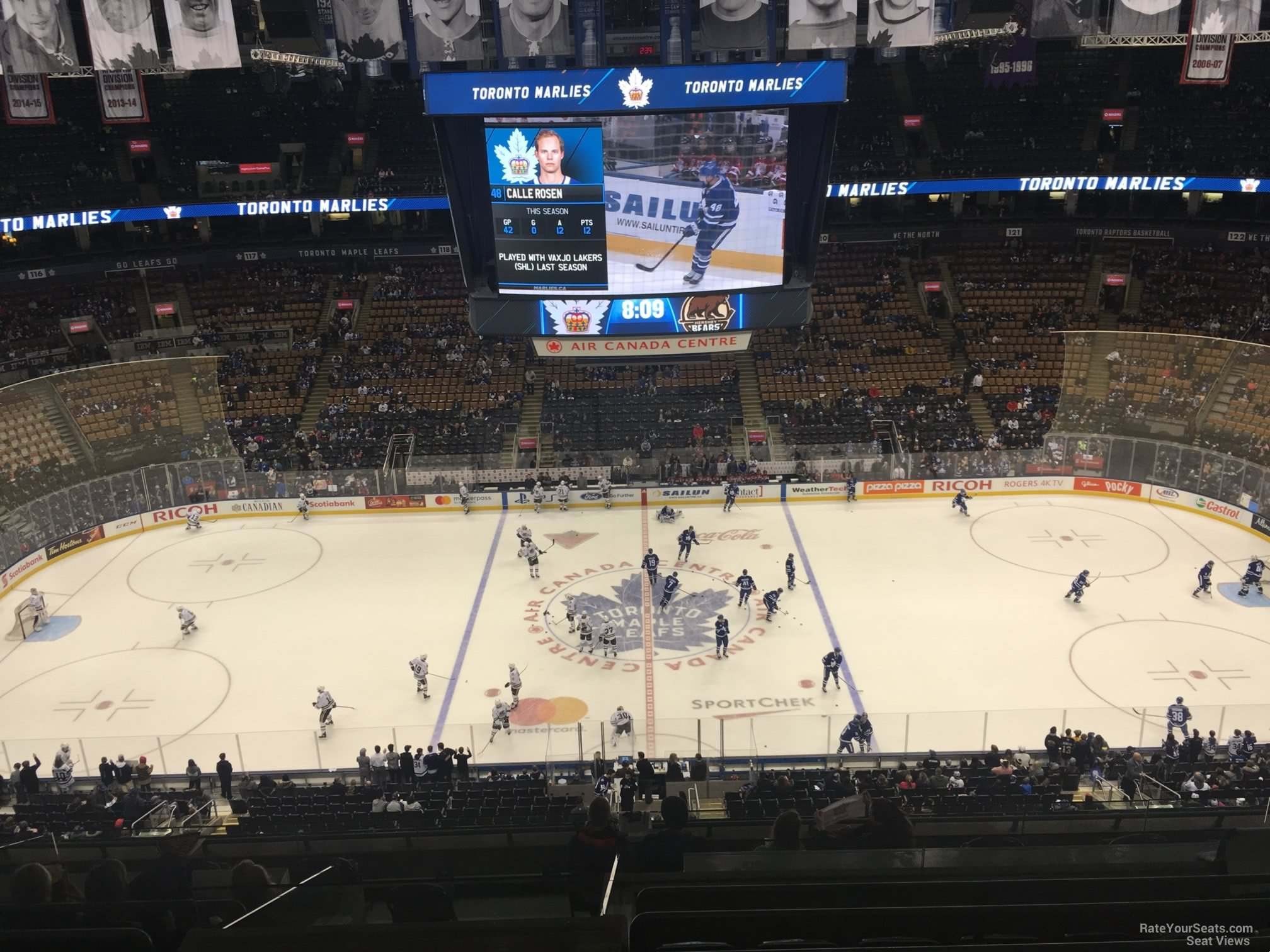 Toronto Maple Leafs Seat View for Scotiabank Arena Section 309, Row 10