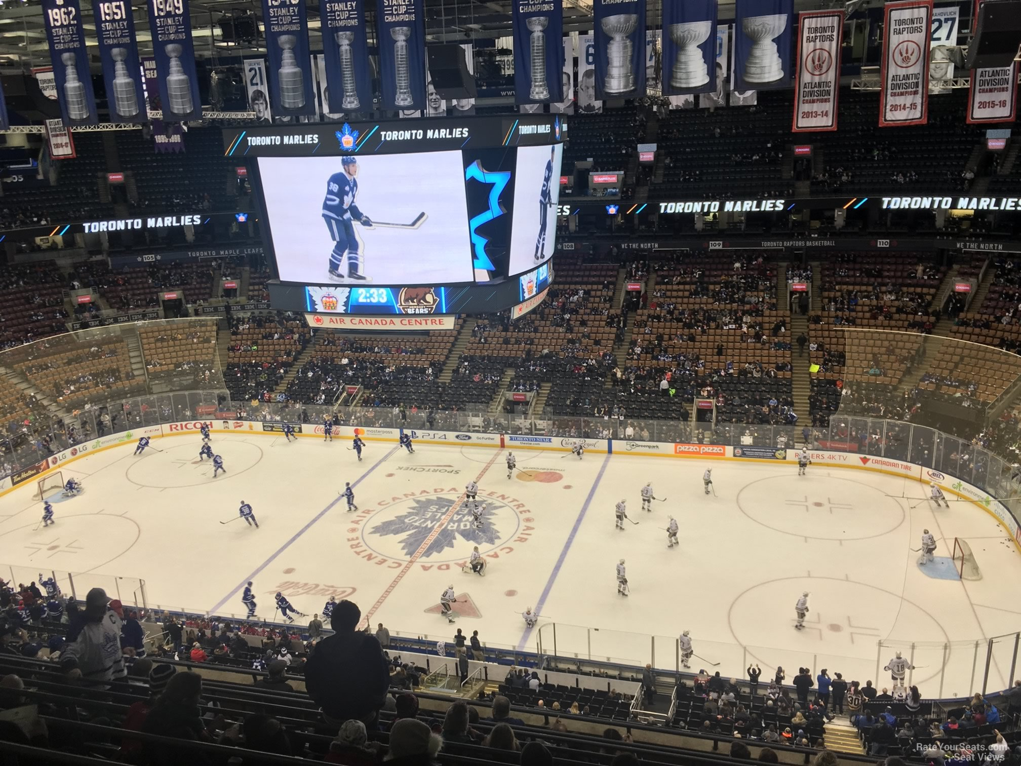 Toronto Maple Leafs Seat View for Scotiabank Arena Section 320, Row 10