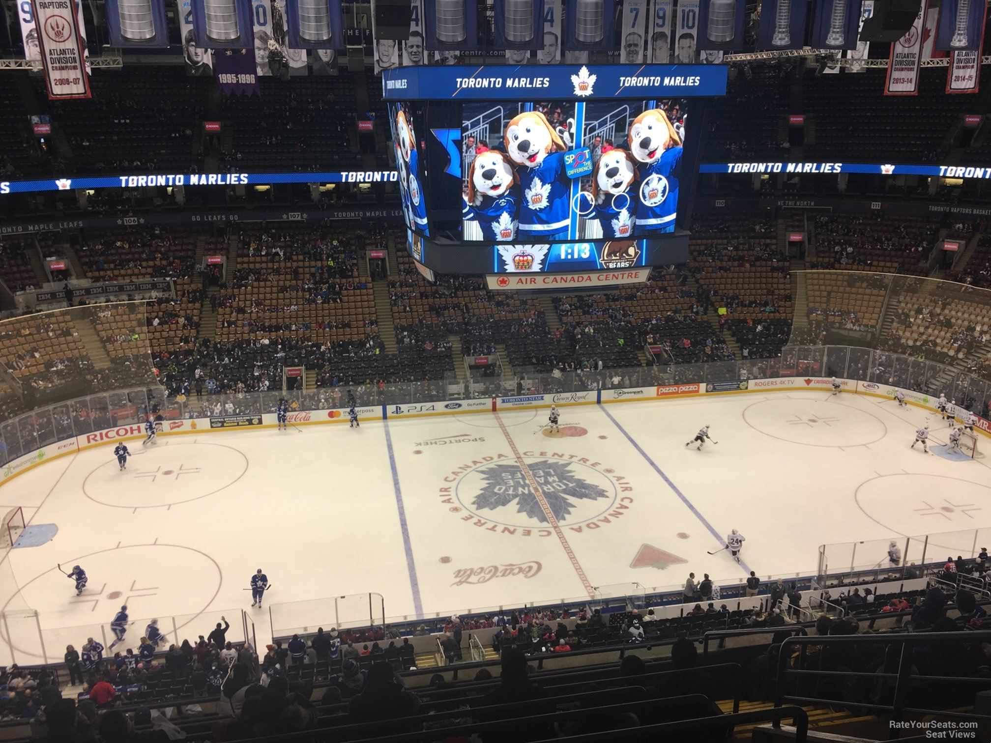 Toronto Maple Leafs Seat View for Scotiabank Arena Section 322, Row 10
