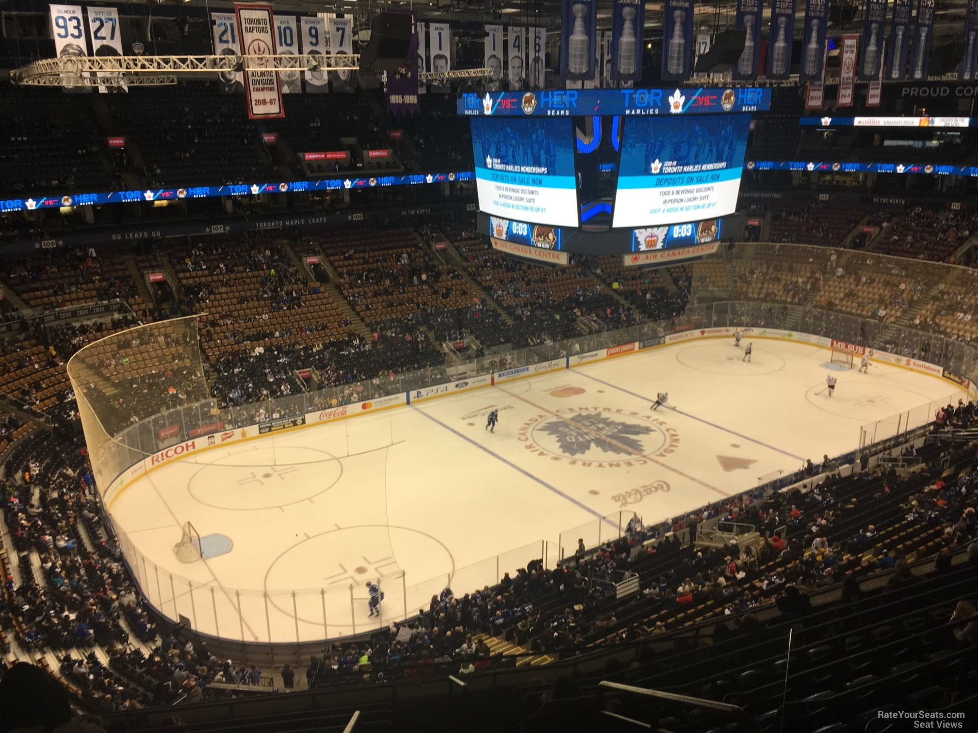 Toronto Maple Leafs Seat View for Scotiabank Arena Section 323, Row 10