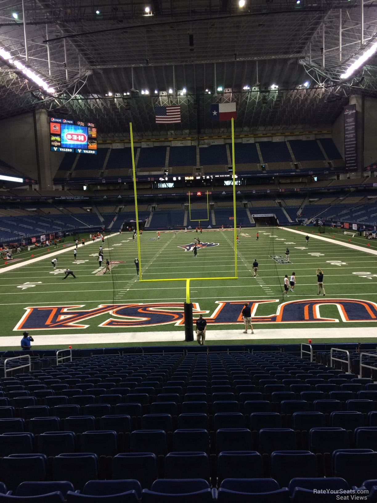 UTSA Roadrunners Seat View for Alamodome Section 101, Row 18