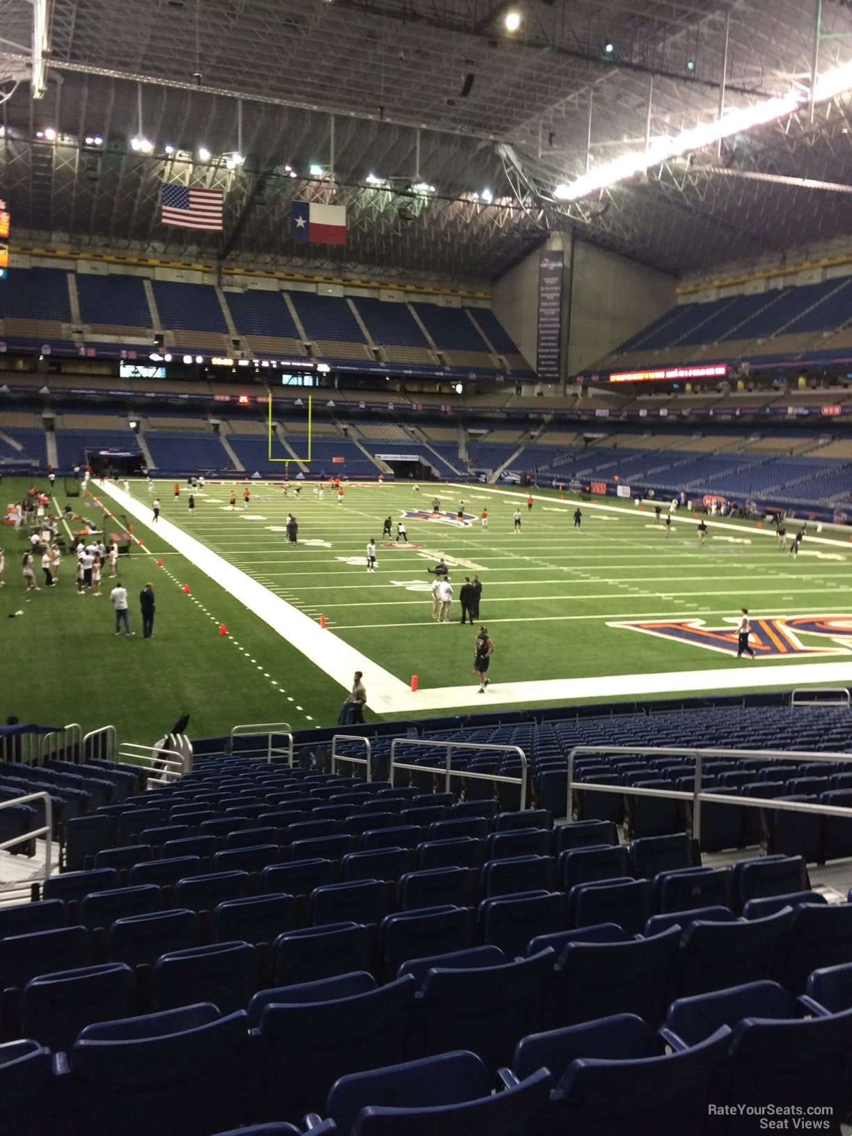 UTSA Roadrunners Seat View for Alamodome Section 104, Row 18