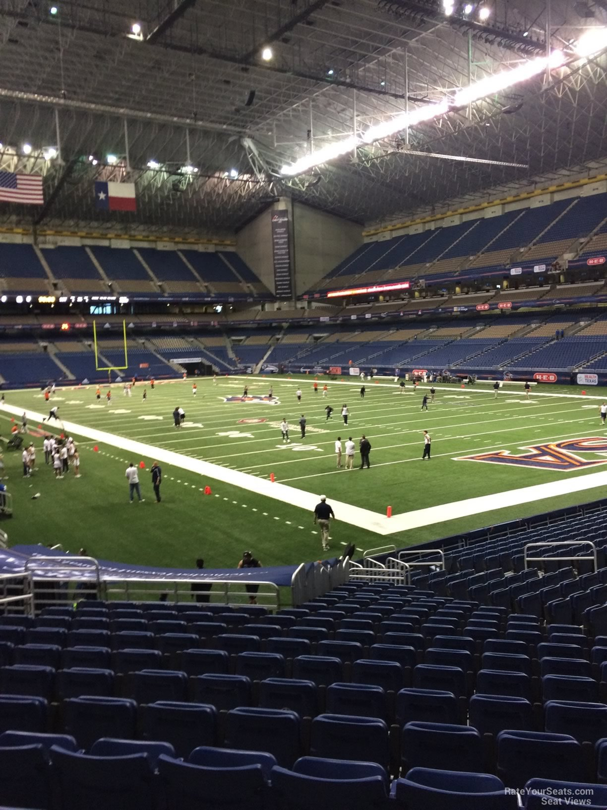 UTSA Roadrunners Seat View for Alamodome Section 105, Row 18