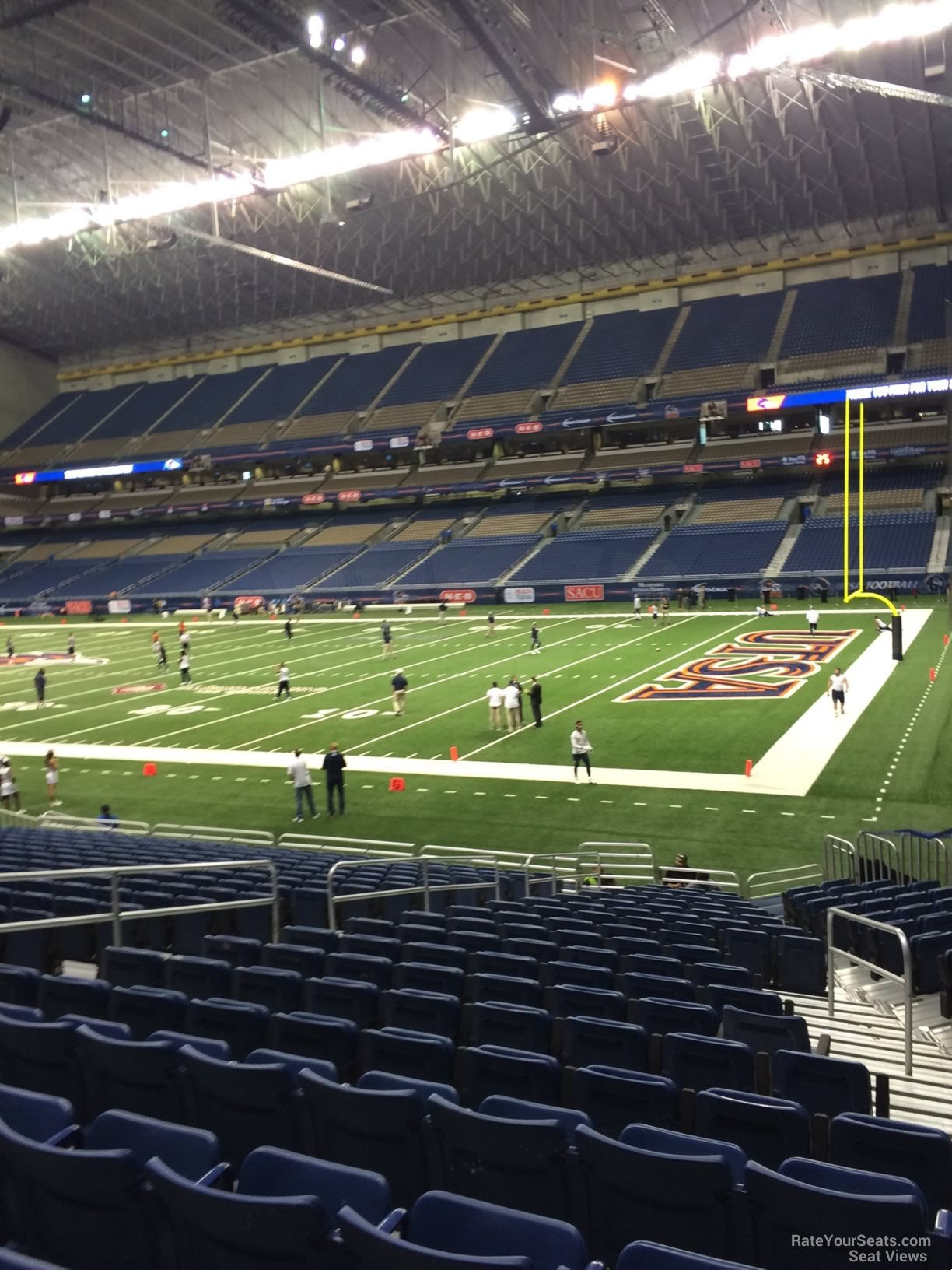 UTSA Roadrunners Seat View for Alamodome Section 107, Row 18