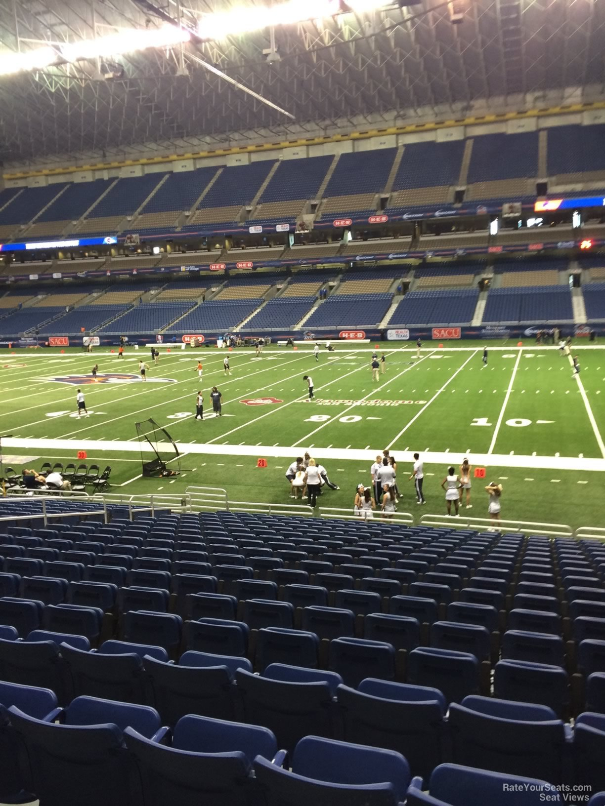 Football Seat View for Alamodome Section 109, Row 18