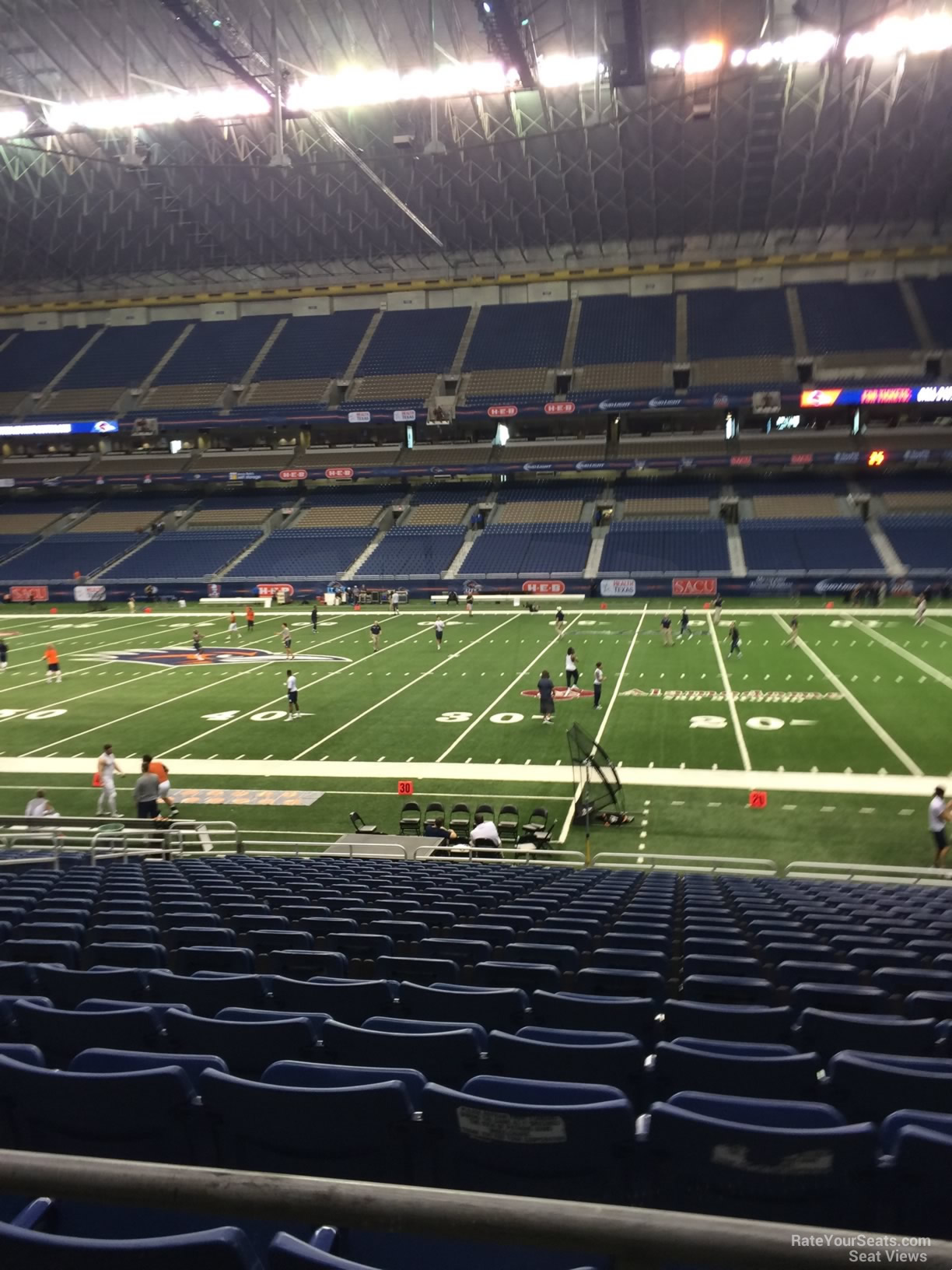 UTSA Roadrunners Seat View for Alamodome Section 110, Row 18