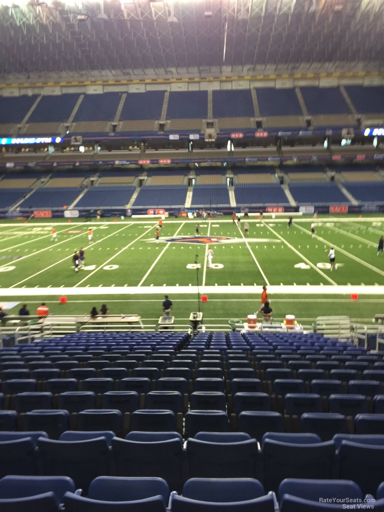 UTSA Roadrunners Seat View for Alamodome Section 112, Row 18