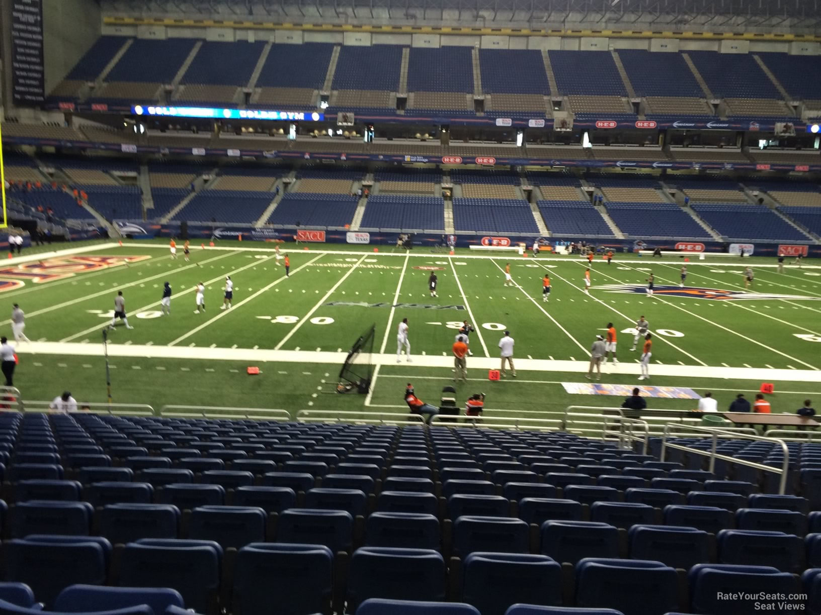 UTSA Roadrunners Seat View for Alamodome Section 114, Row 18