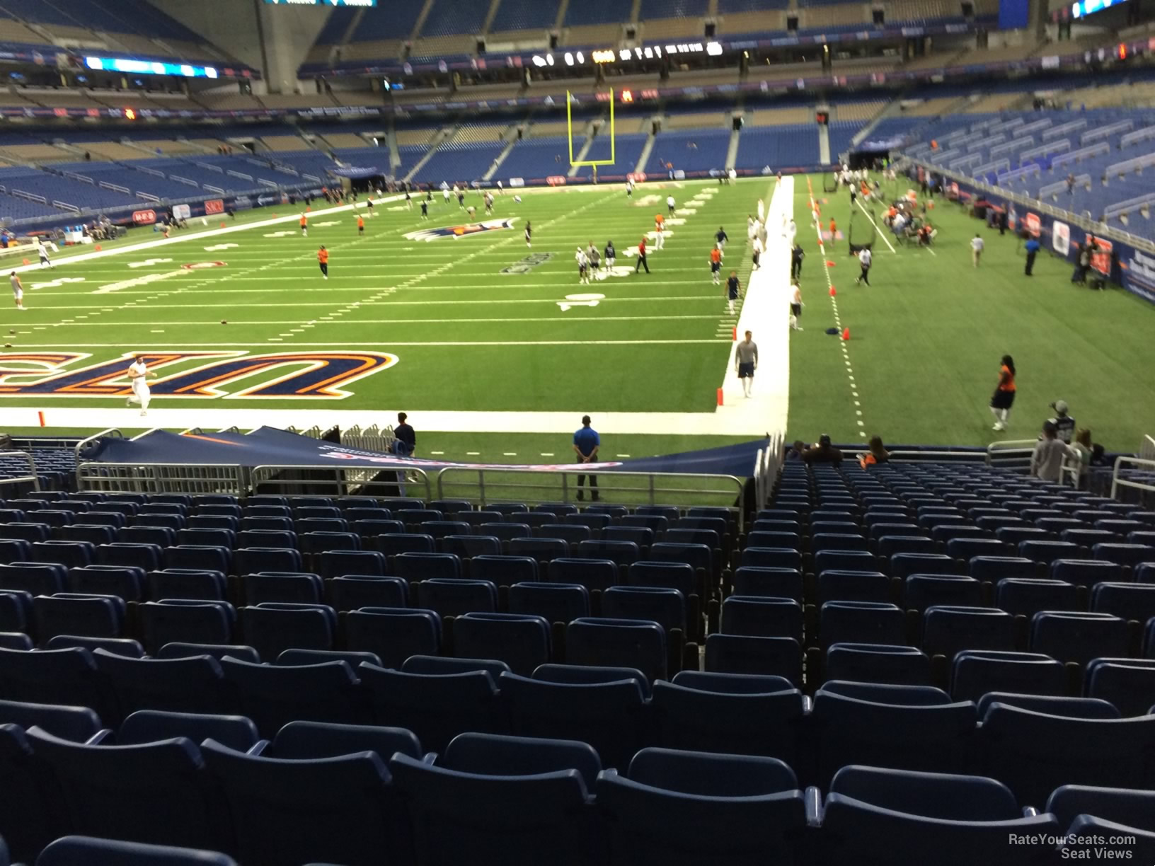 UTSA Roadrunners Seat View for Alamodome Section 121, Row 18