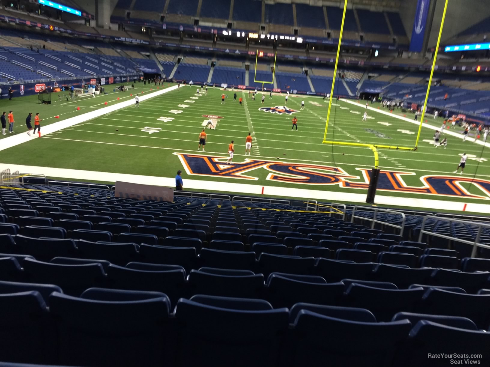 UTSA Roadrunners Seat View for Alamodome Section 124, Row 18