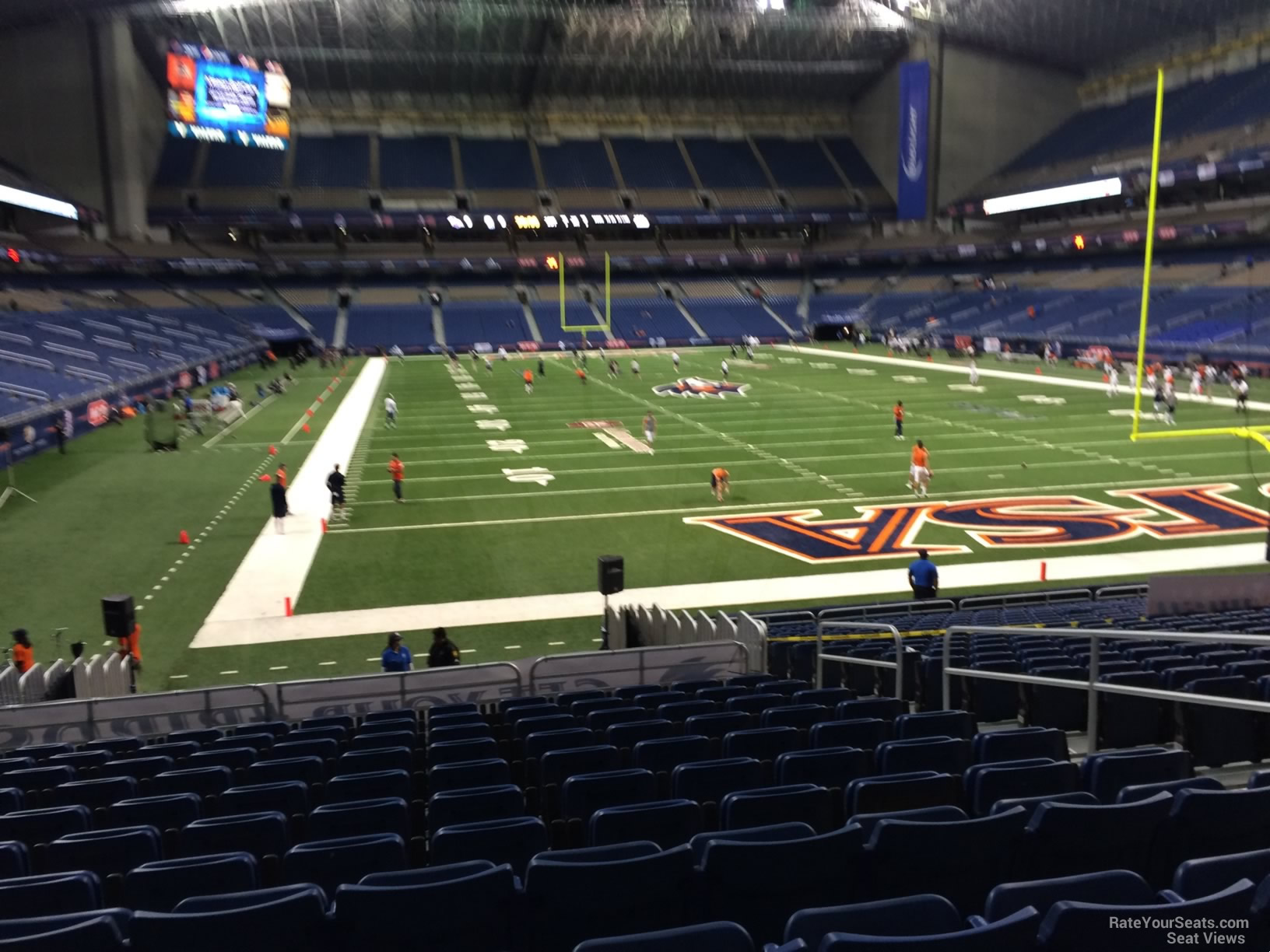 Football Seat View for Alamodome Section 125, Row 18