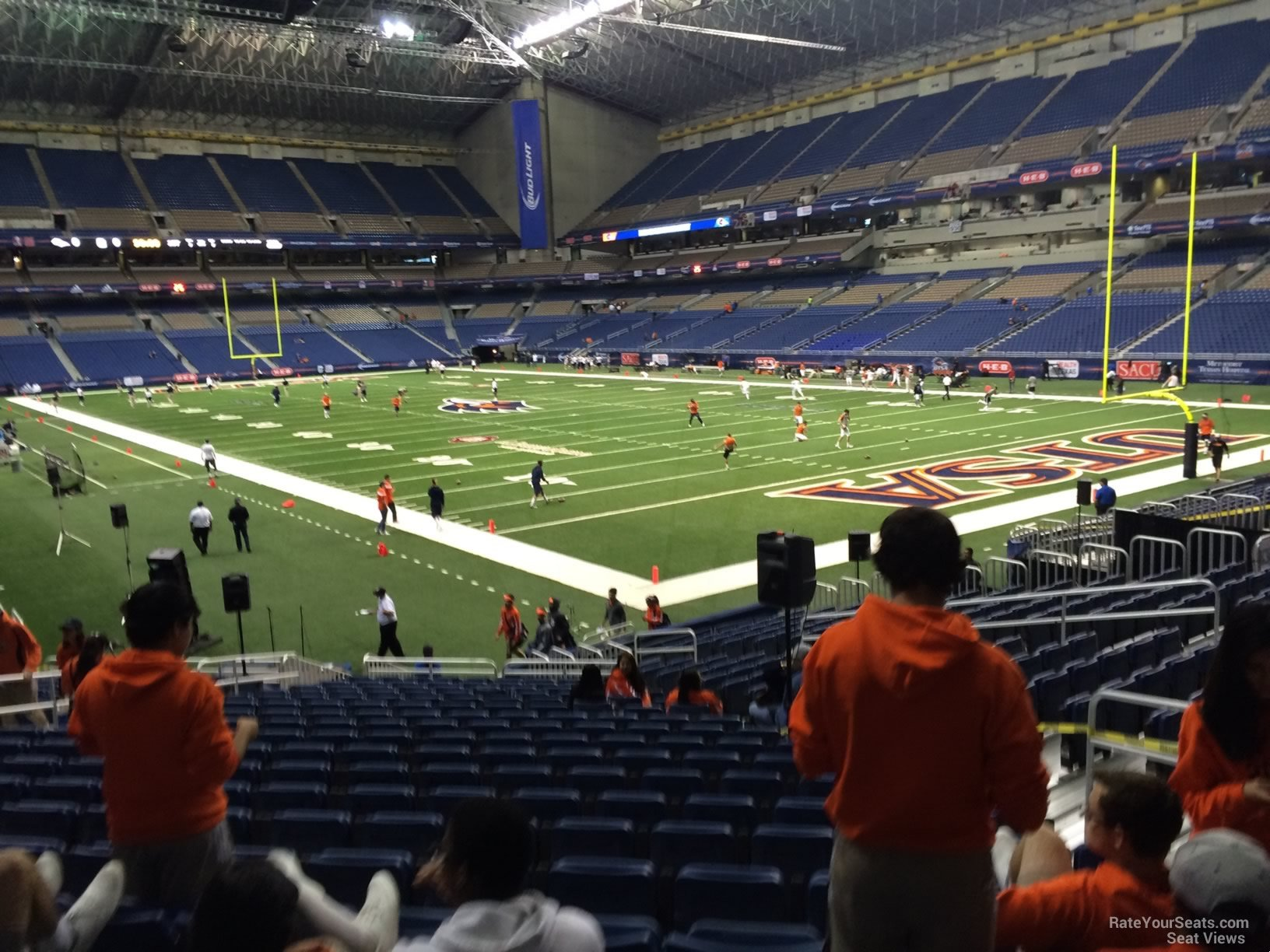 Football Seat View for Alamodome Section 127, Row 18