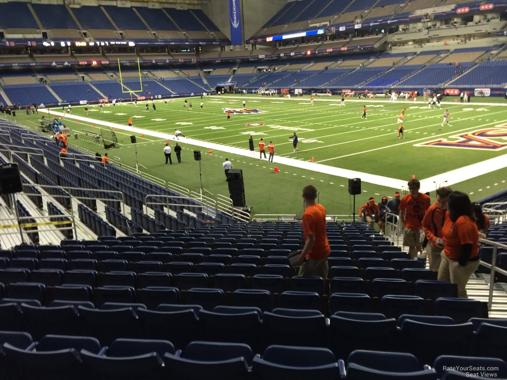 UTSA Roadrunners Seat View for Alamodome Section 128, Row 18