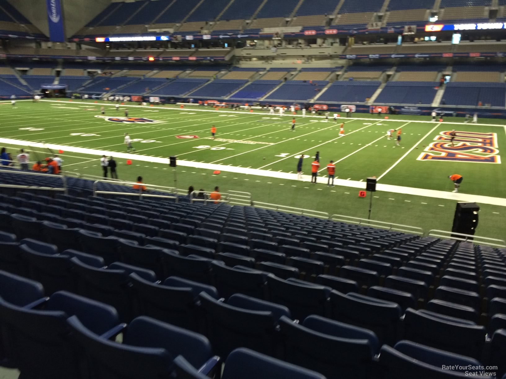 UTSA Roadrunners Seat View for Alamodome Section 130, Row 18
