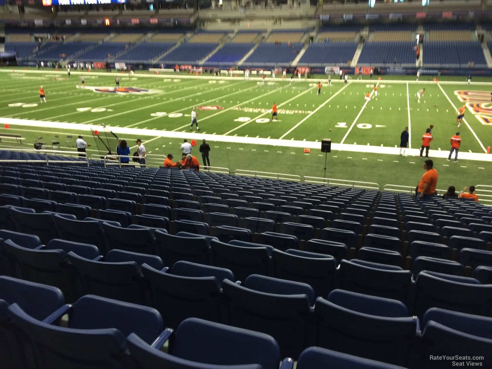 Football Seat View for Alamodome Section 131, Row 18