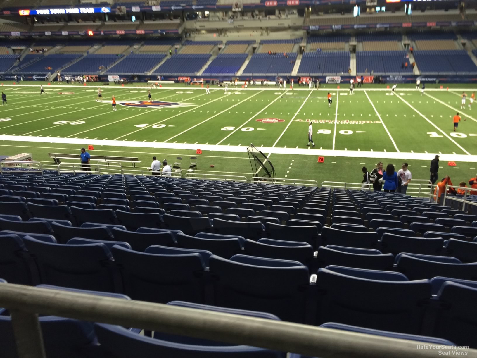 UTSA Roadrunners Seat View for Alamodome Section 132, Row 18