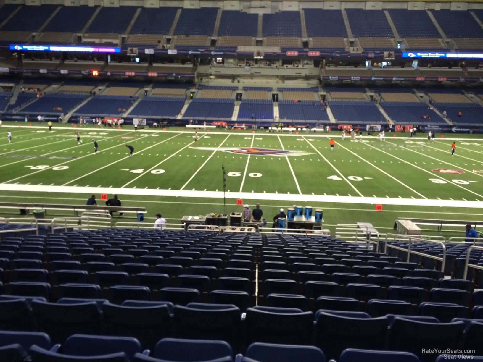 UTSA Roadrunners Seat View for Alamodome Section 134, Row 18