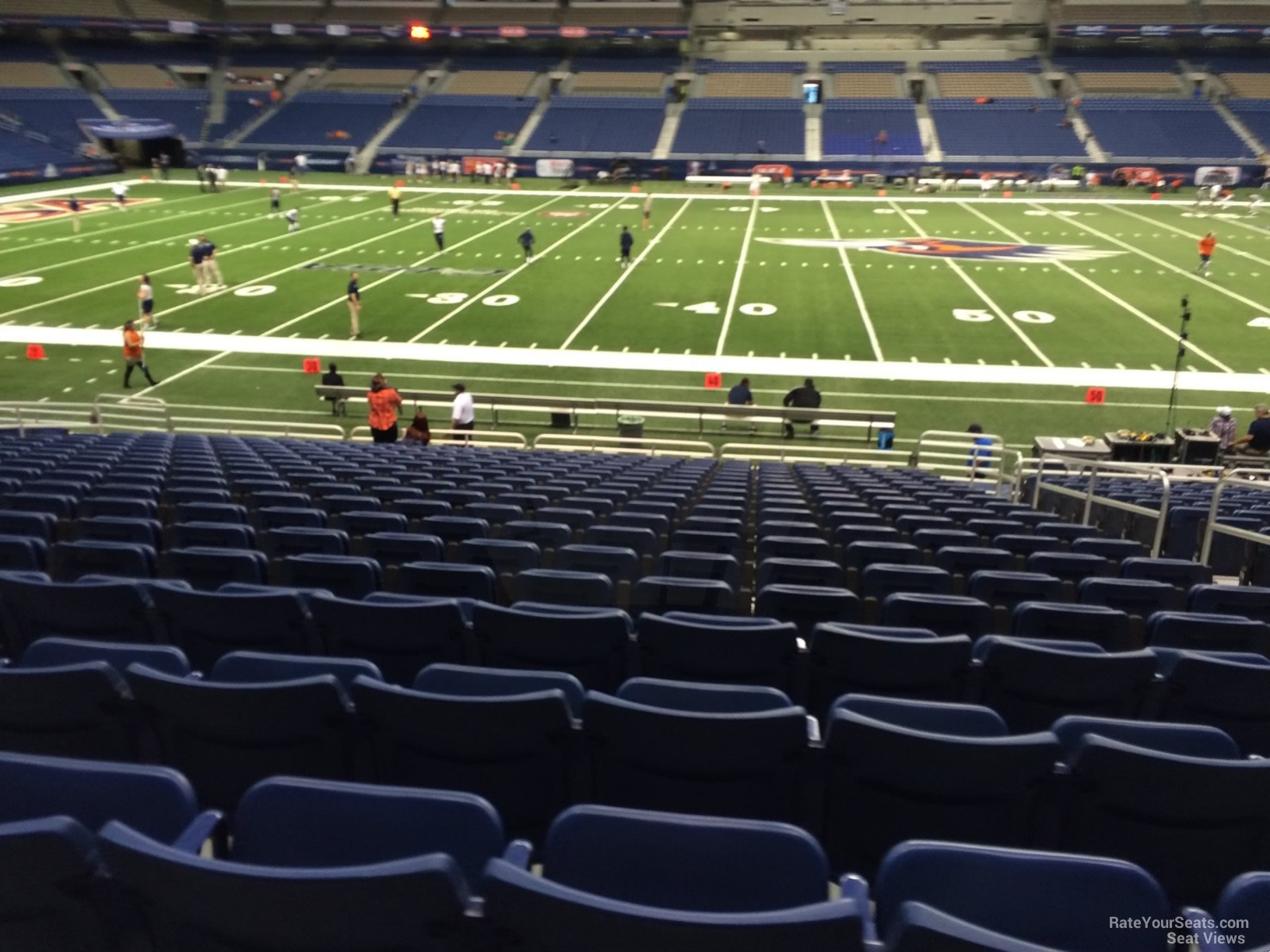UTSA Roadrunners Seat View for Alamodome Section 135, Row 18
