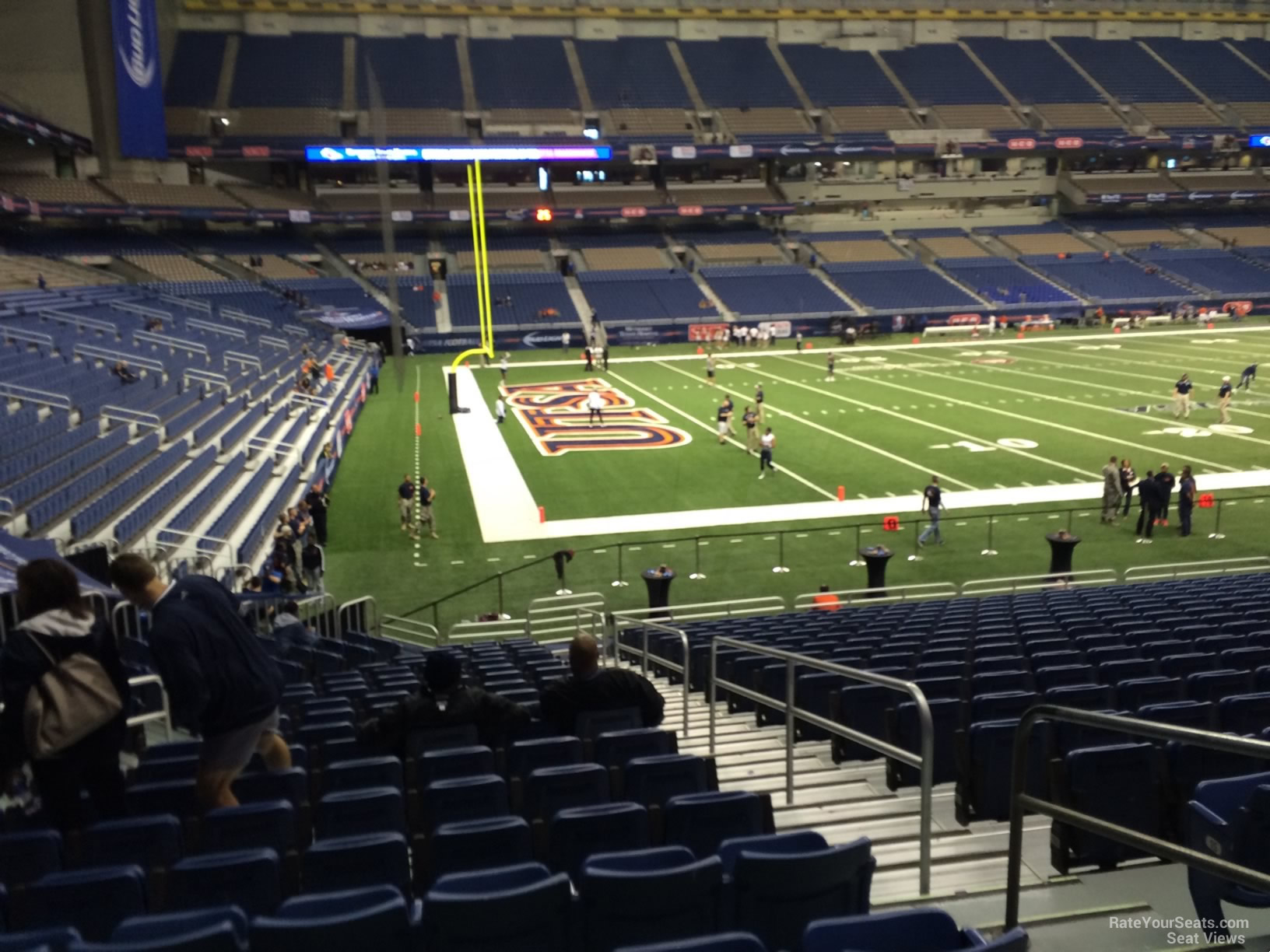 UTSA Roadrunners Seat View for Alamodome Section 139, Row 18