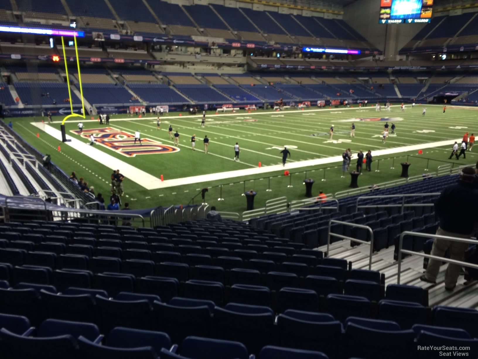 UTSA Roadrunners Seat View for Alamodome Section 140, Row 18