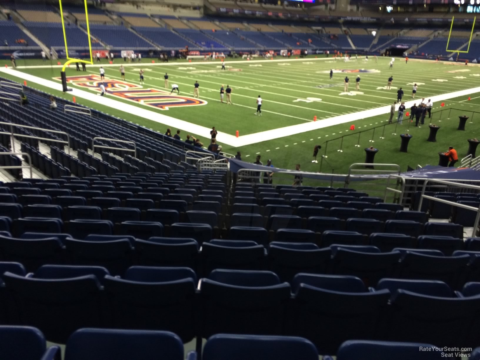 UTSA Roadrunners Seat View for Alamodome Section 141, Row 18