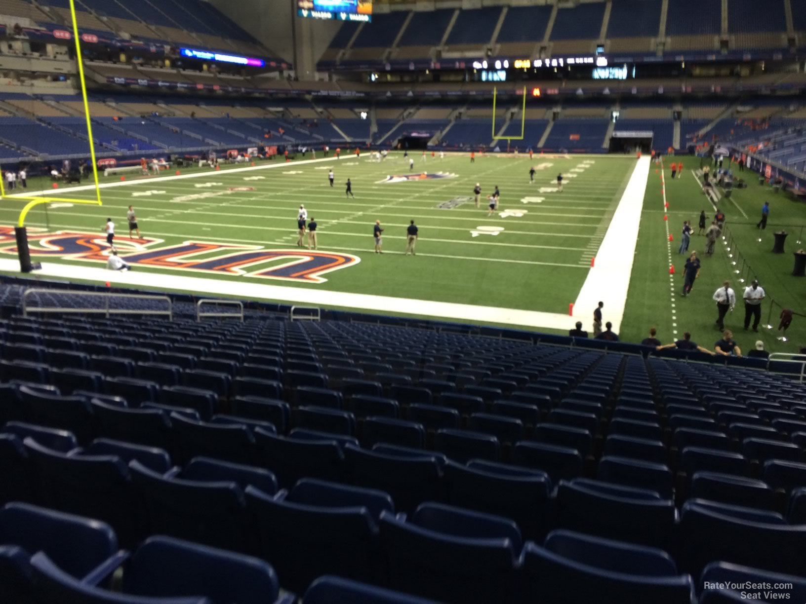 UTSA Roadrunners Seat View for Alamodome Section 143, Row 18