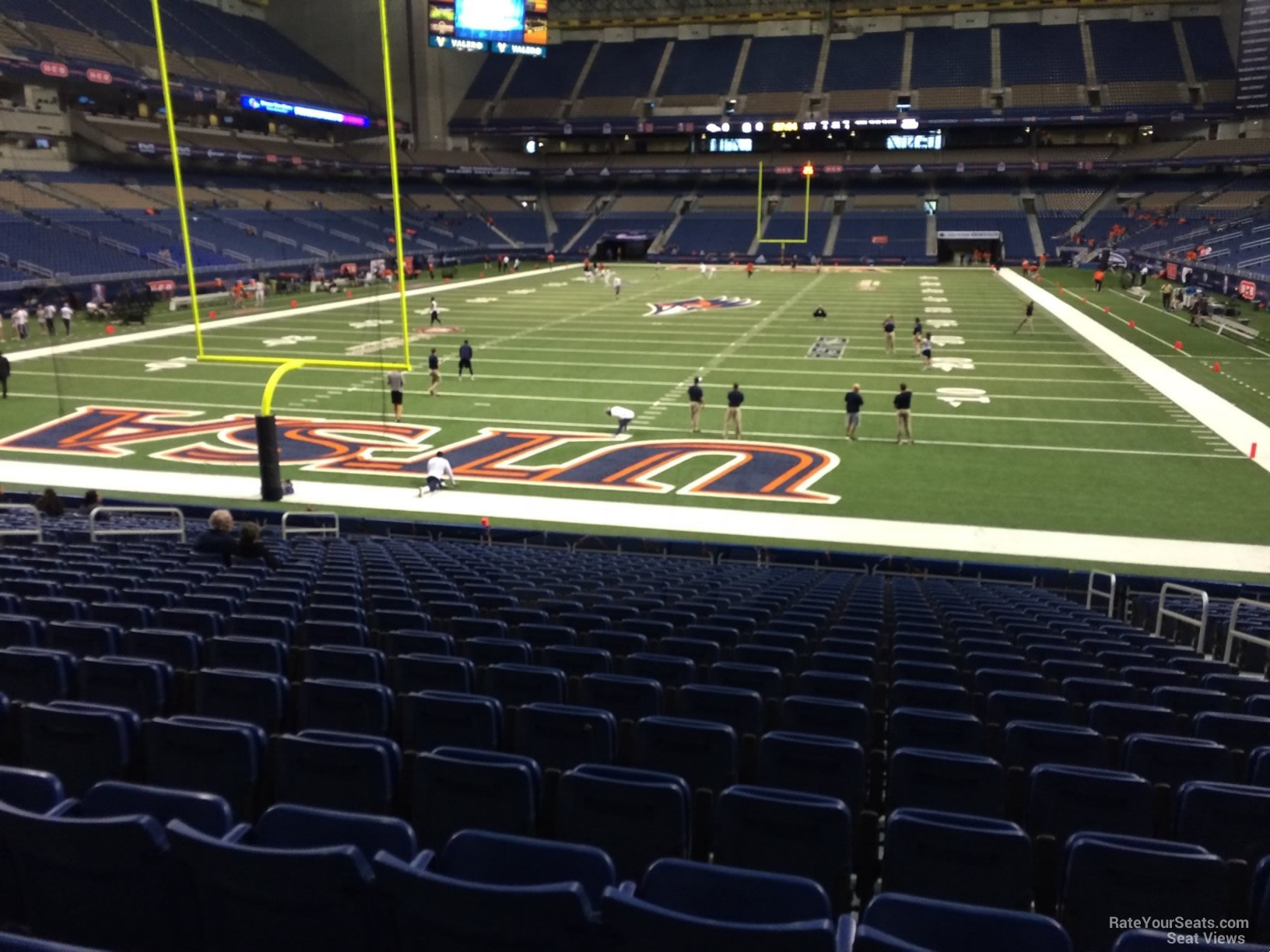 UTSA Roadrunners Seat View for Alamodome Section 144, Row 18
