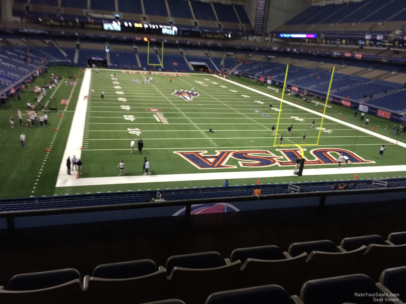 Football Seat View for Alamodome Section 203, Row 5