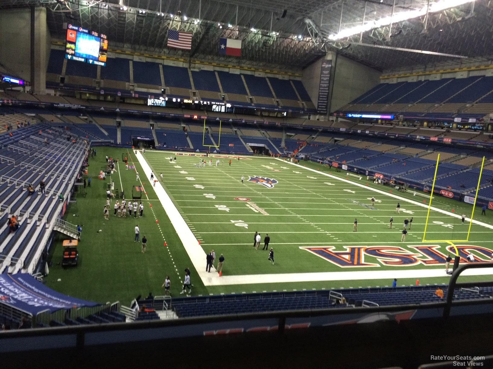 UTSA Roadrunners Seat View for Alamodome Section 204, Row 5