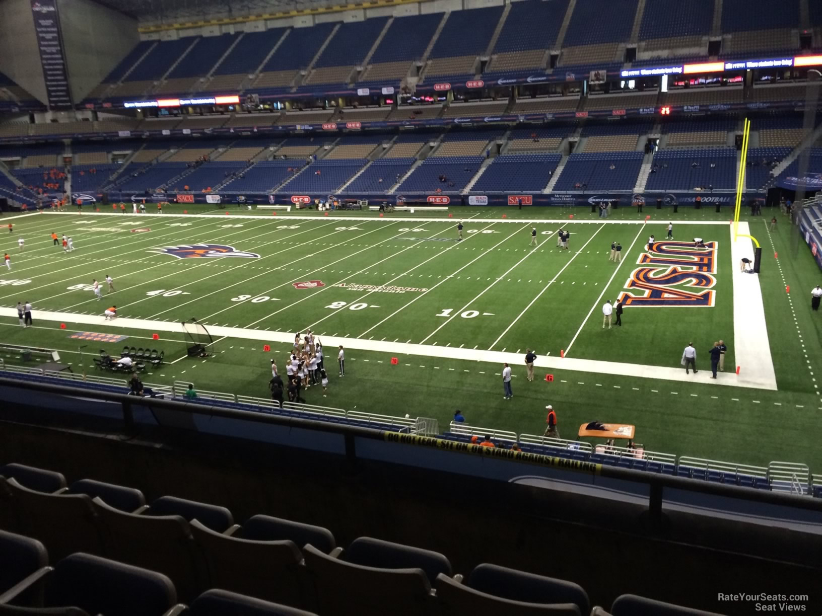 UTSA Roadrunners Seat View for Alamodome Section 208, Row 5