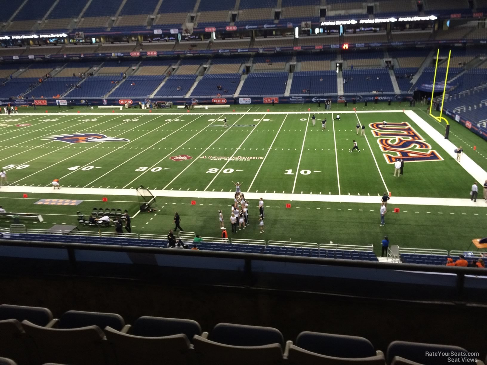 UTSA Roadrunners Seat View for Alamodome Section 209, Row 5