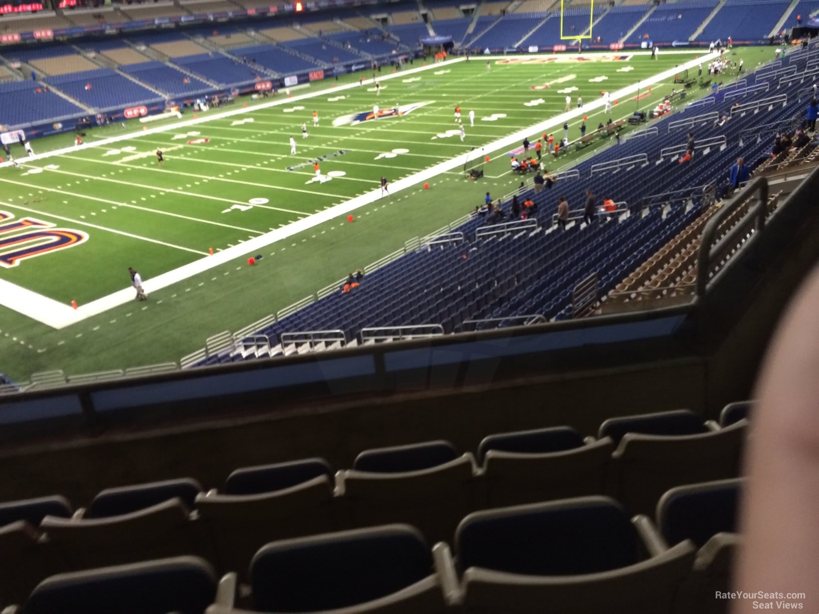 Football Seat View for Alamodome Section 218, Row 5